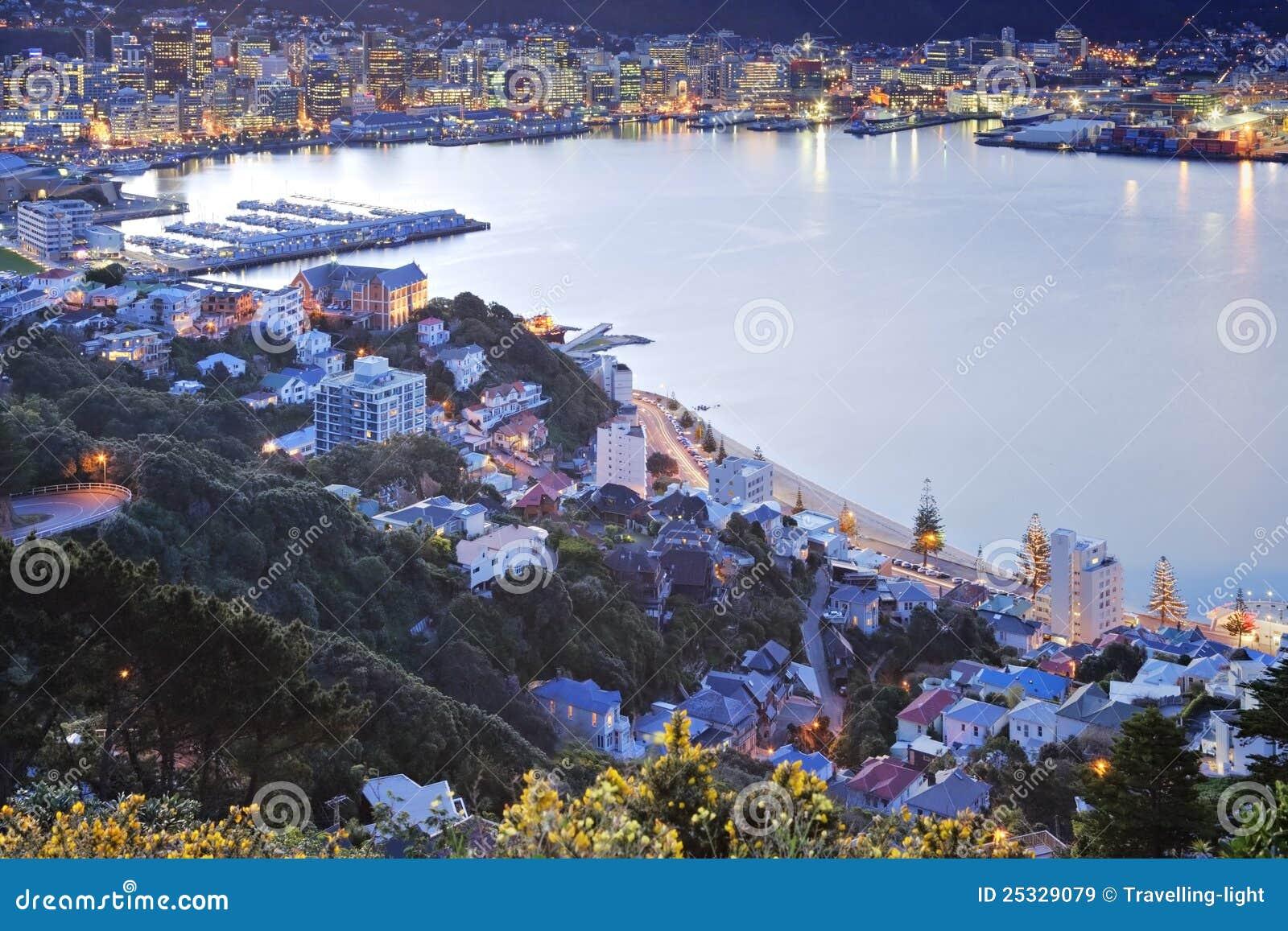 Cbd nowy nad mrocznym Wellington Zealand