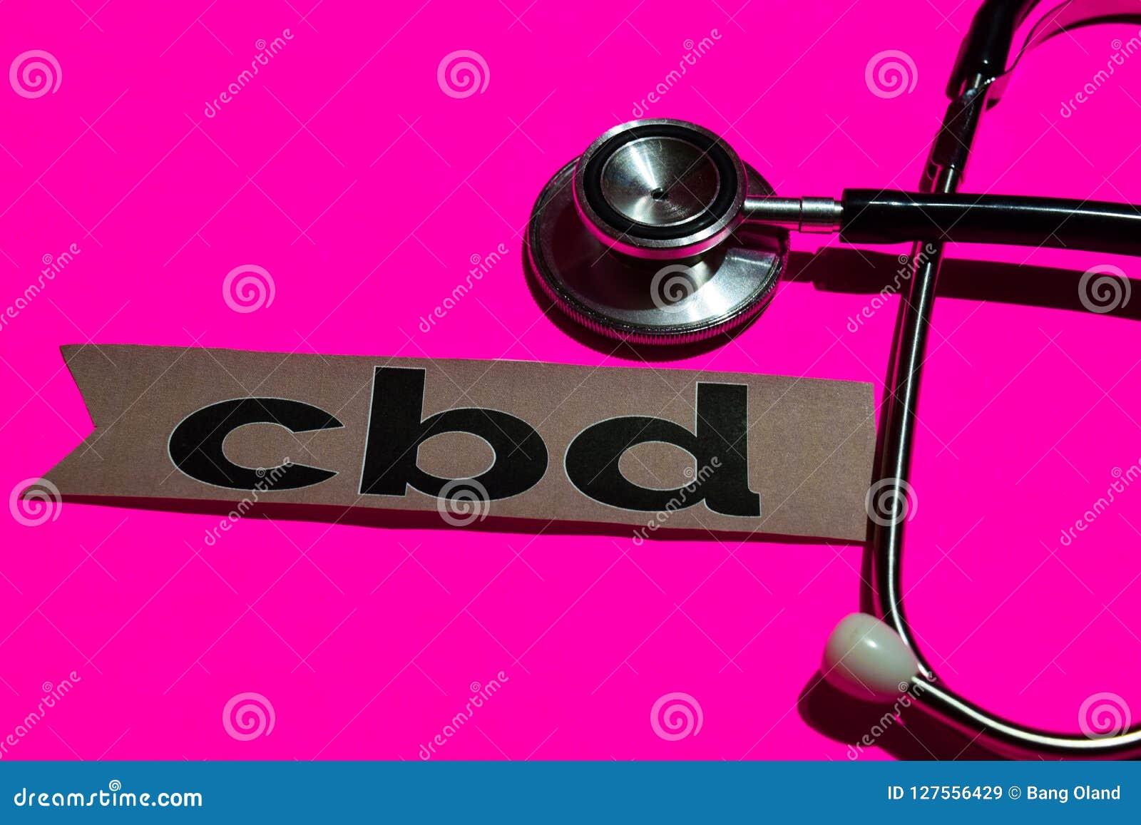 CBD på tryckpapperet med det medicare begreppet