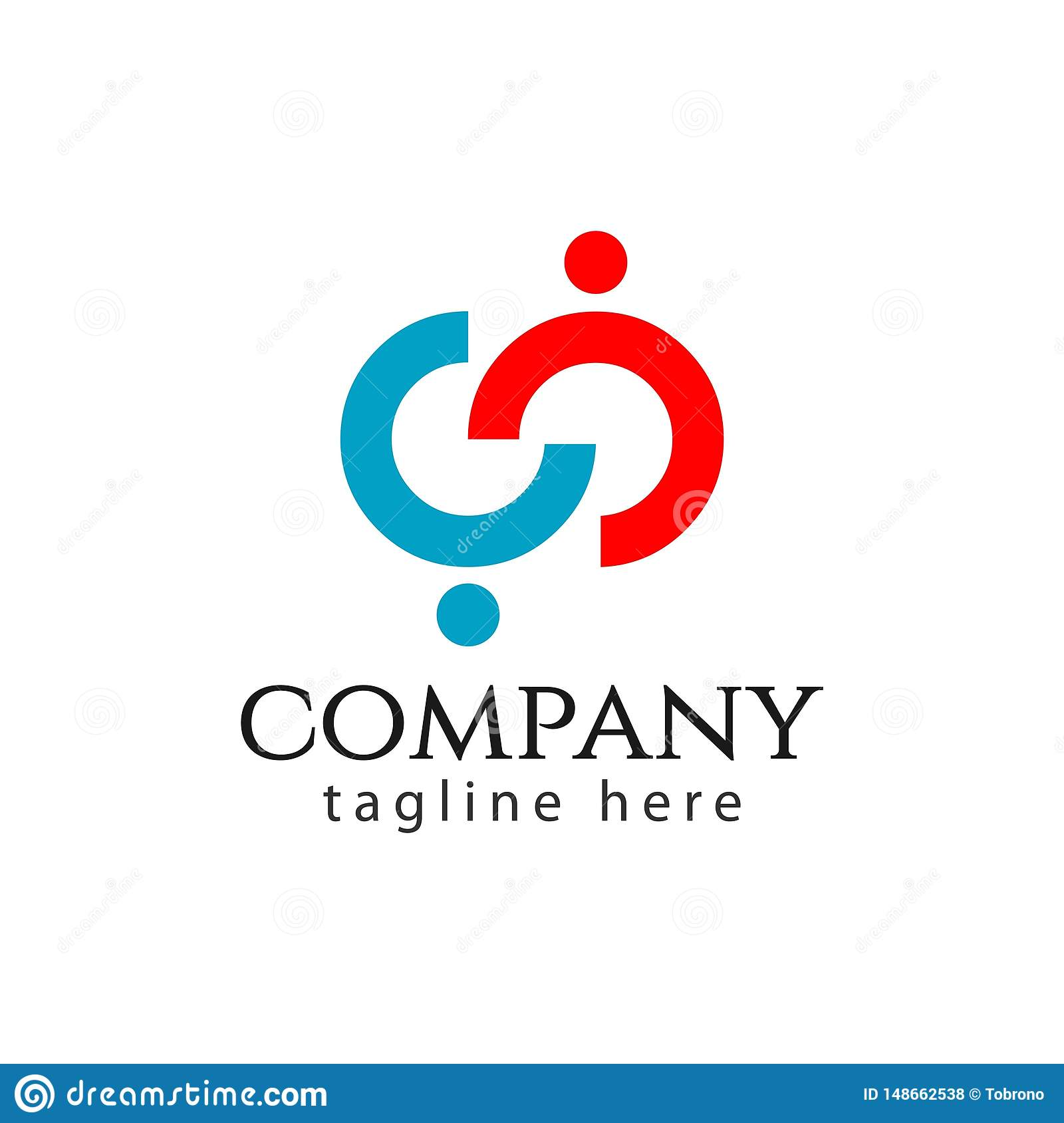 CC Company Logo Vector Template Design Illustration