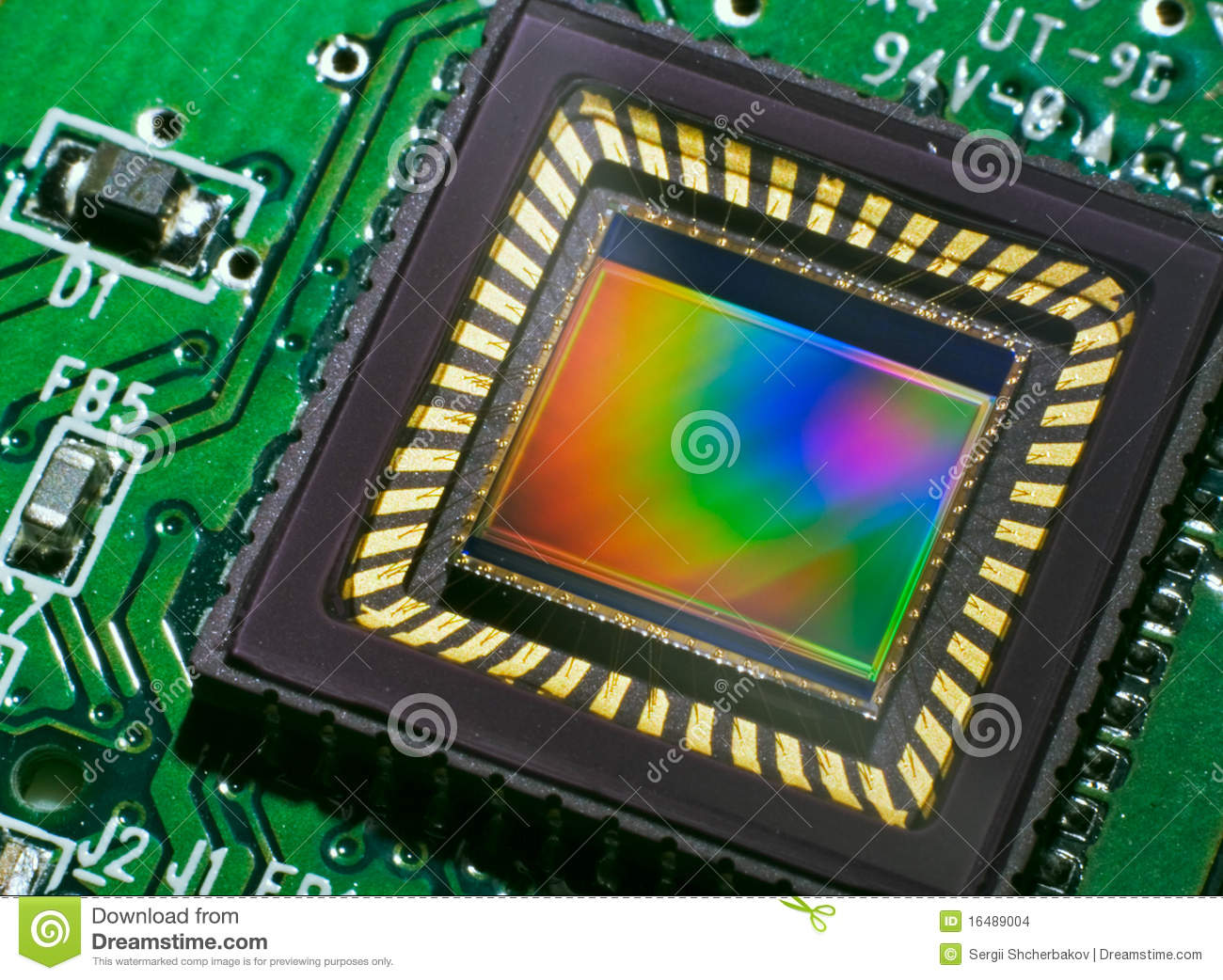 Ccd Sensor On A Card Stock Images Image 16489004