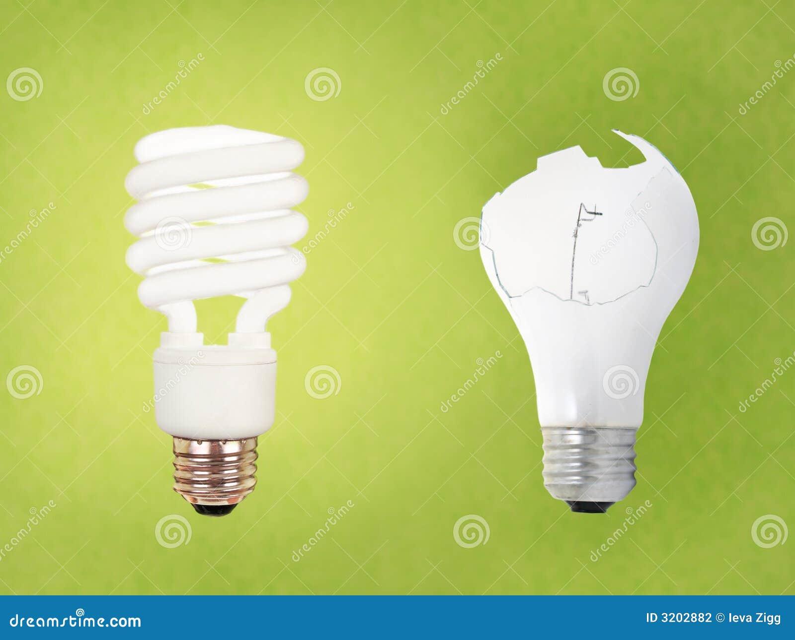 Ccfl Vs Broken Regular Bulb Stock Photo Image Of Save Modern 3202882
