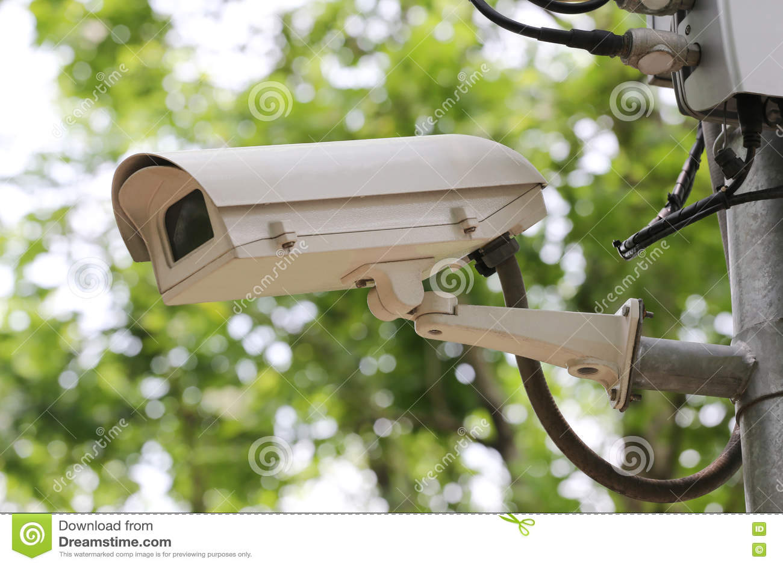 CCTV照相机数字式录影机在公园