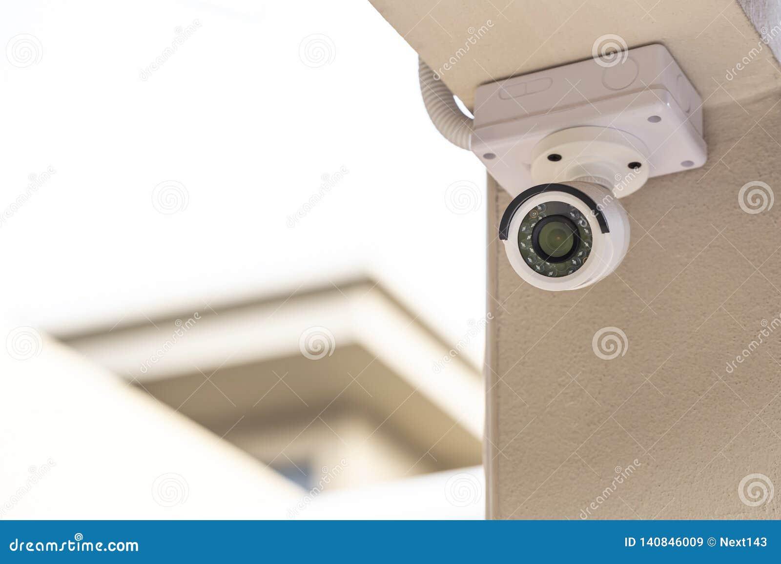 CCTV bianco sulla colonna