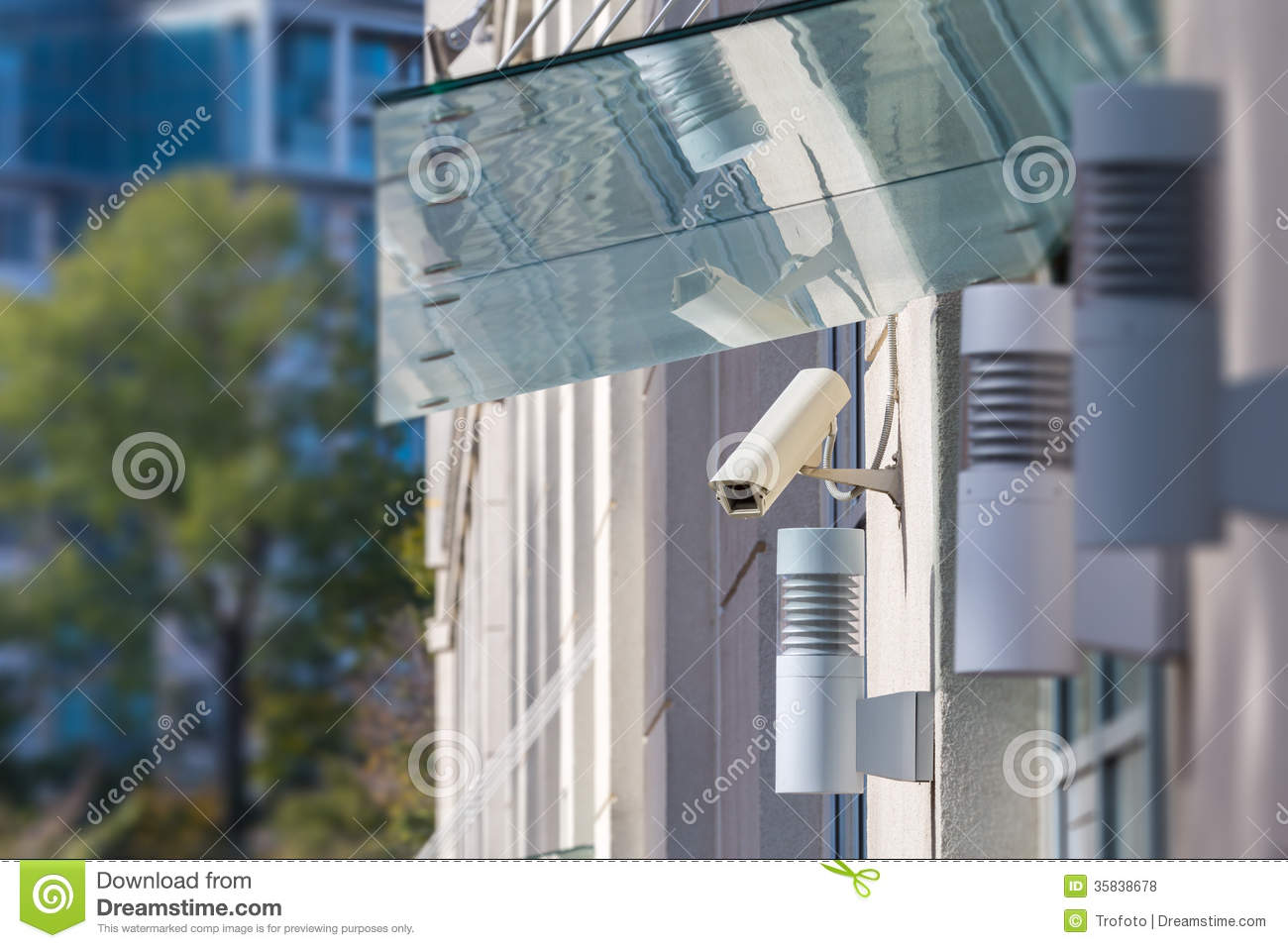 Cctv Camera On The Front Of The House Royalty Free Stock