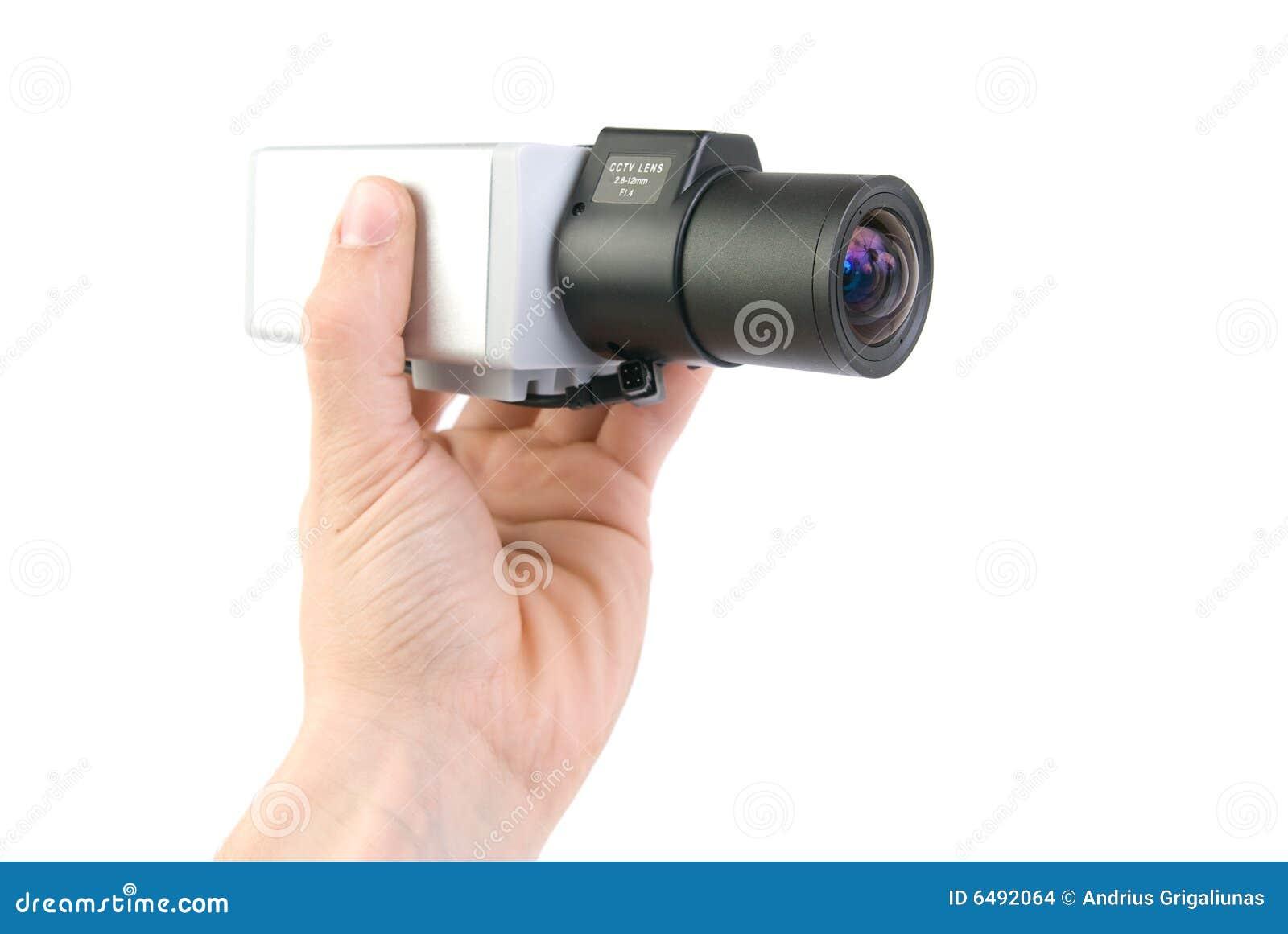 Cctv camera in hand