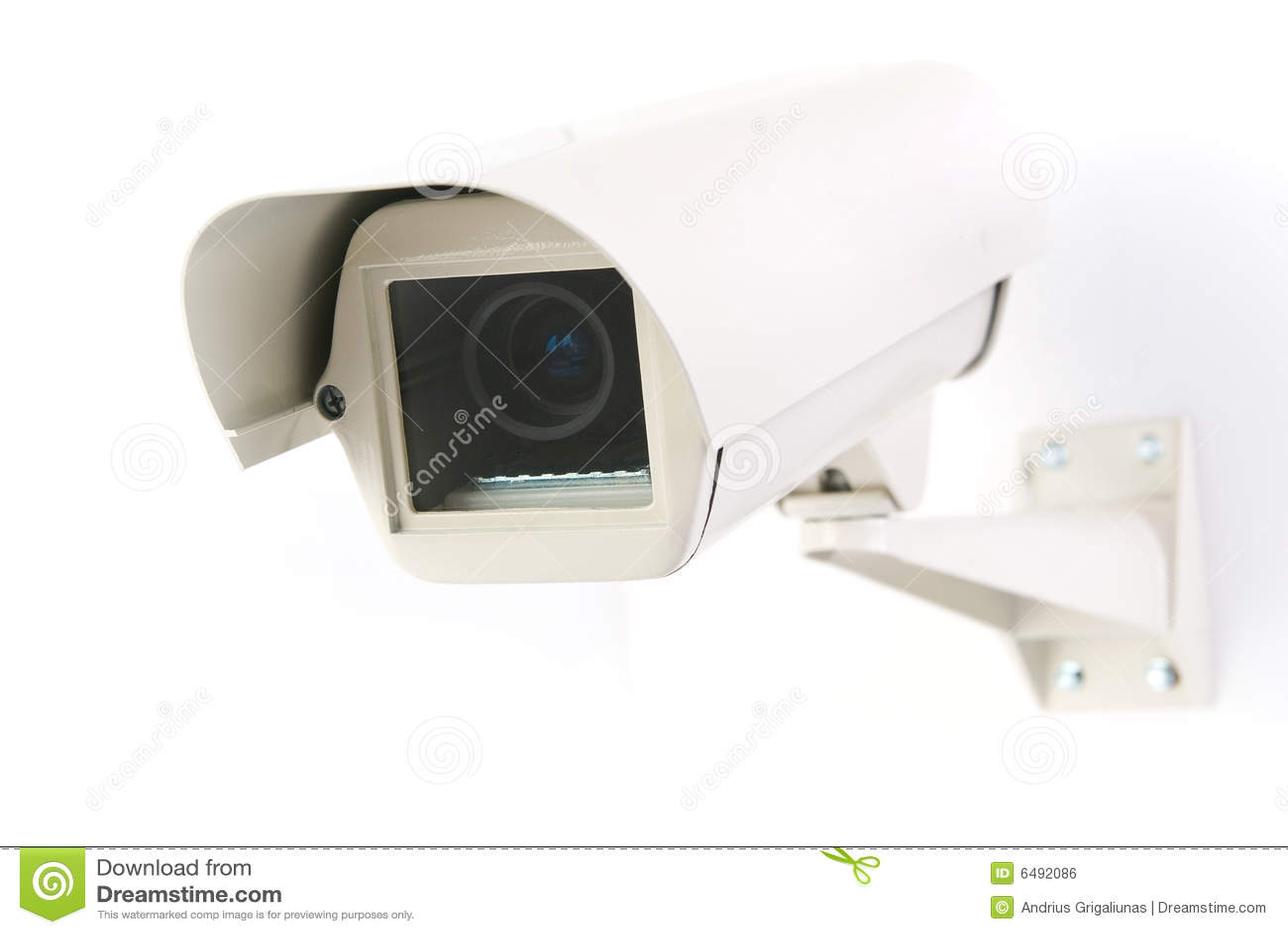 Cctv camera in housing