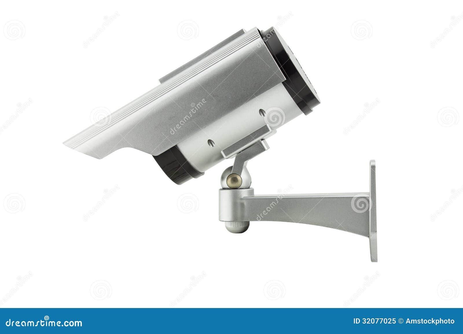 Cctv Camera Isolated On White Background Royalty Free