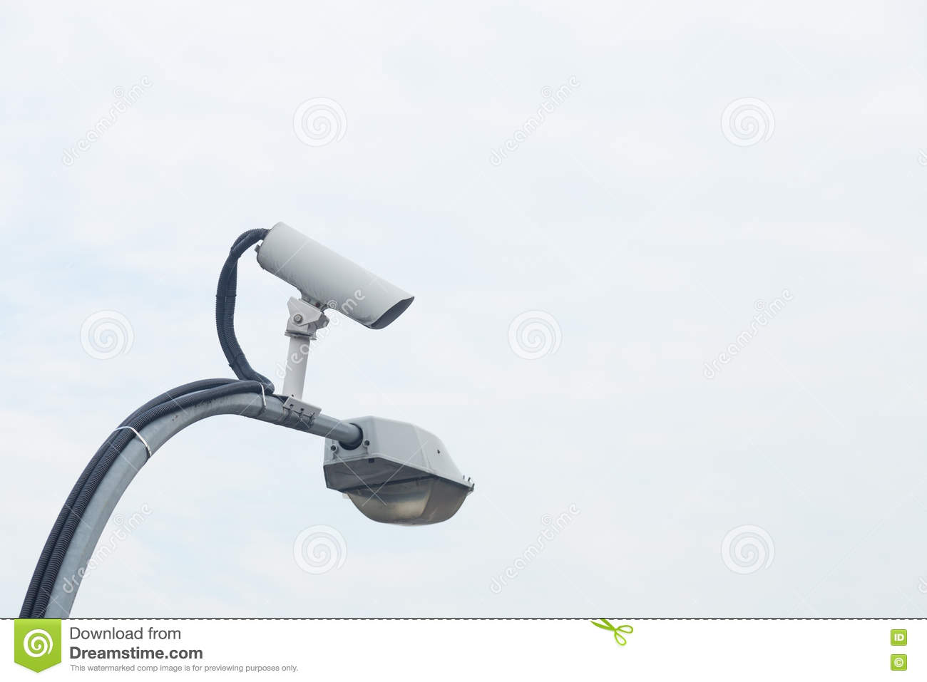 Cctv camera on light pole stock photo image of security 74453056 cctv camera on light pole aloadofball Image collections