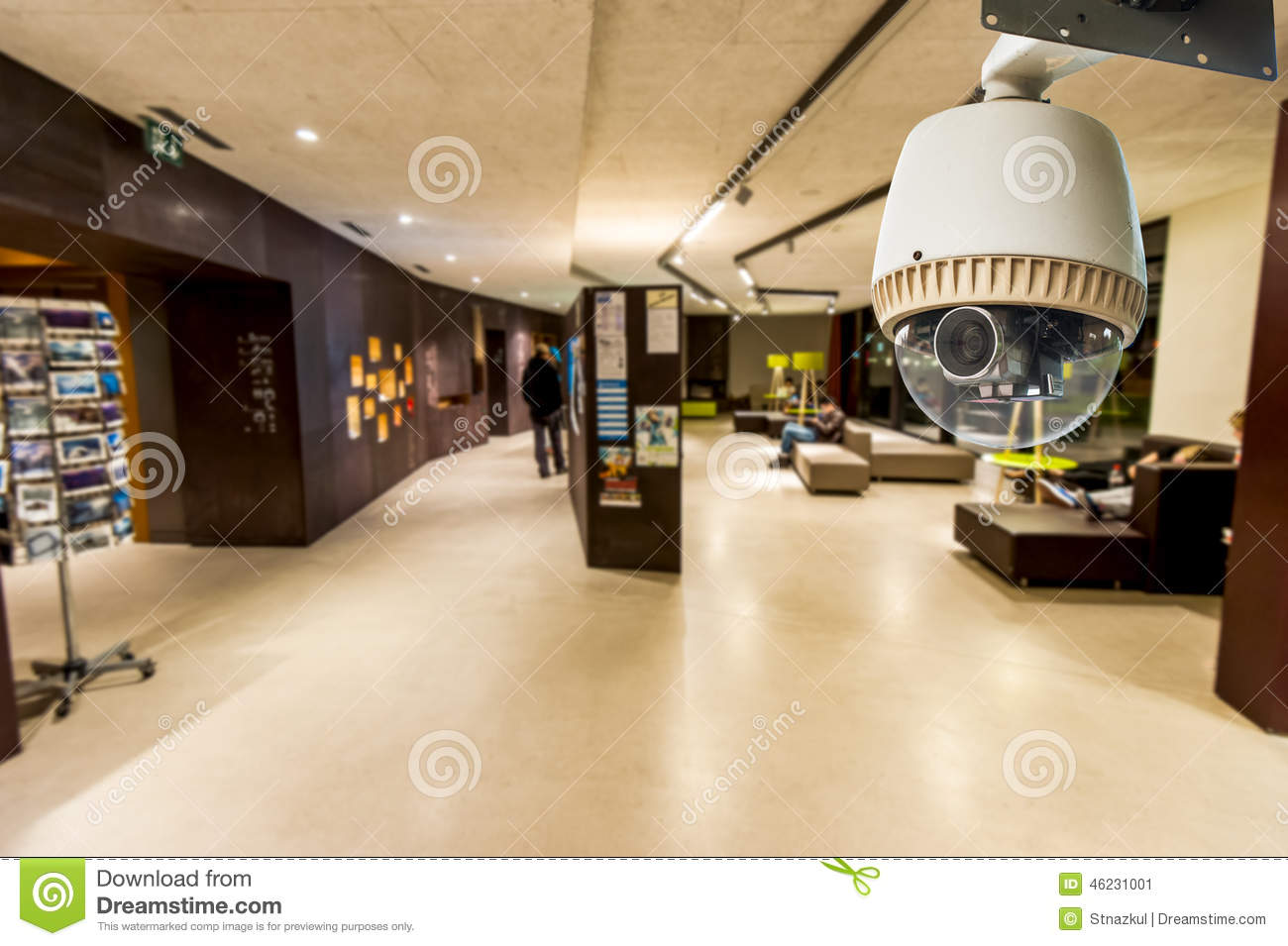 CCTV Camera Operating on living area or lobby
