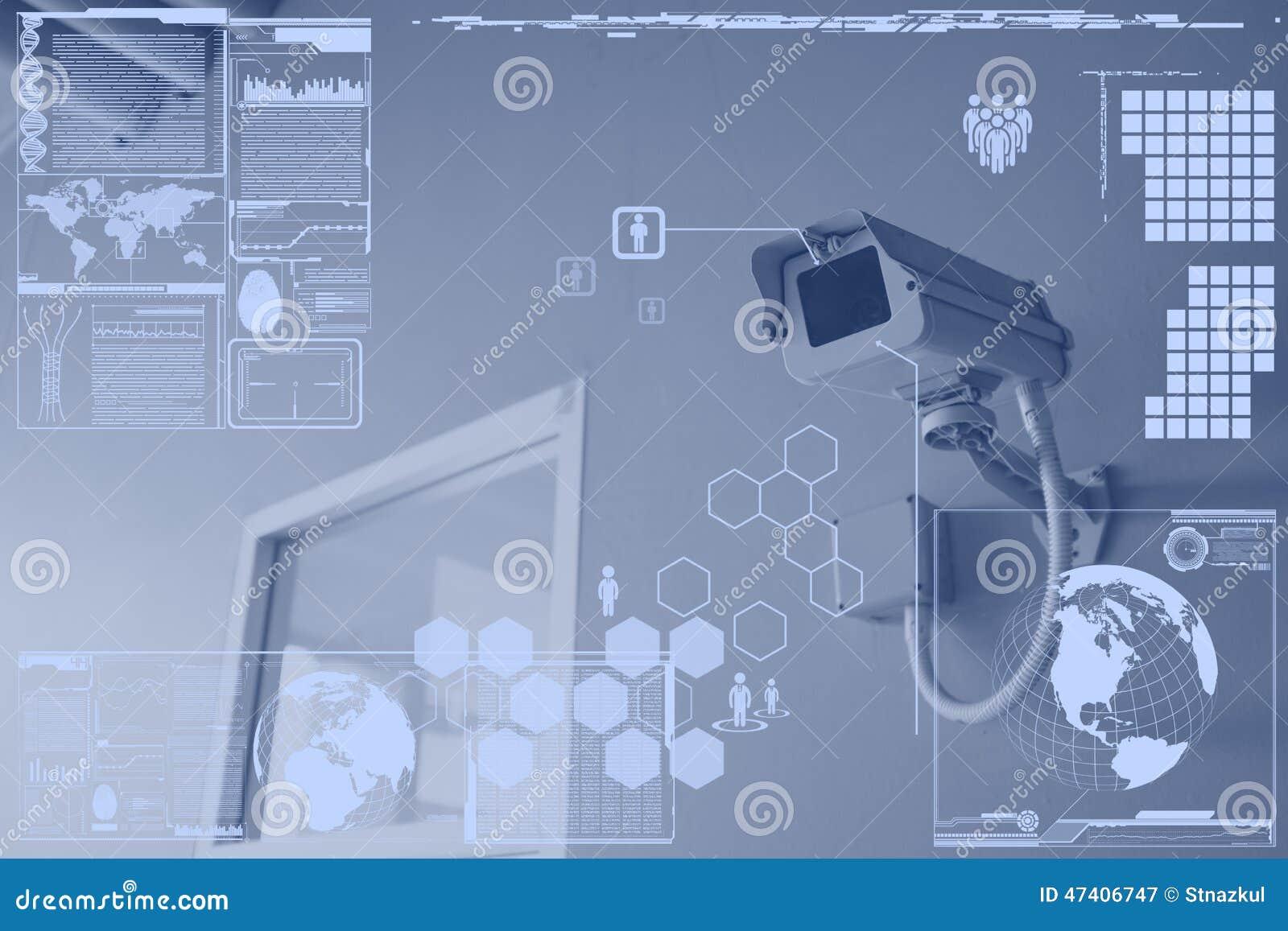 Cctv Camera Or Surveillance Technology On Screen Display