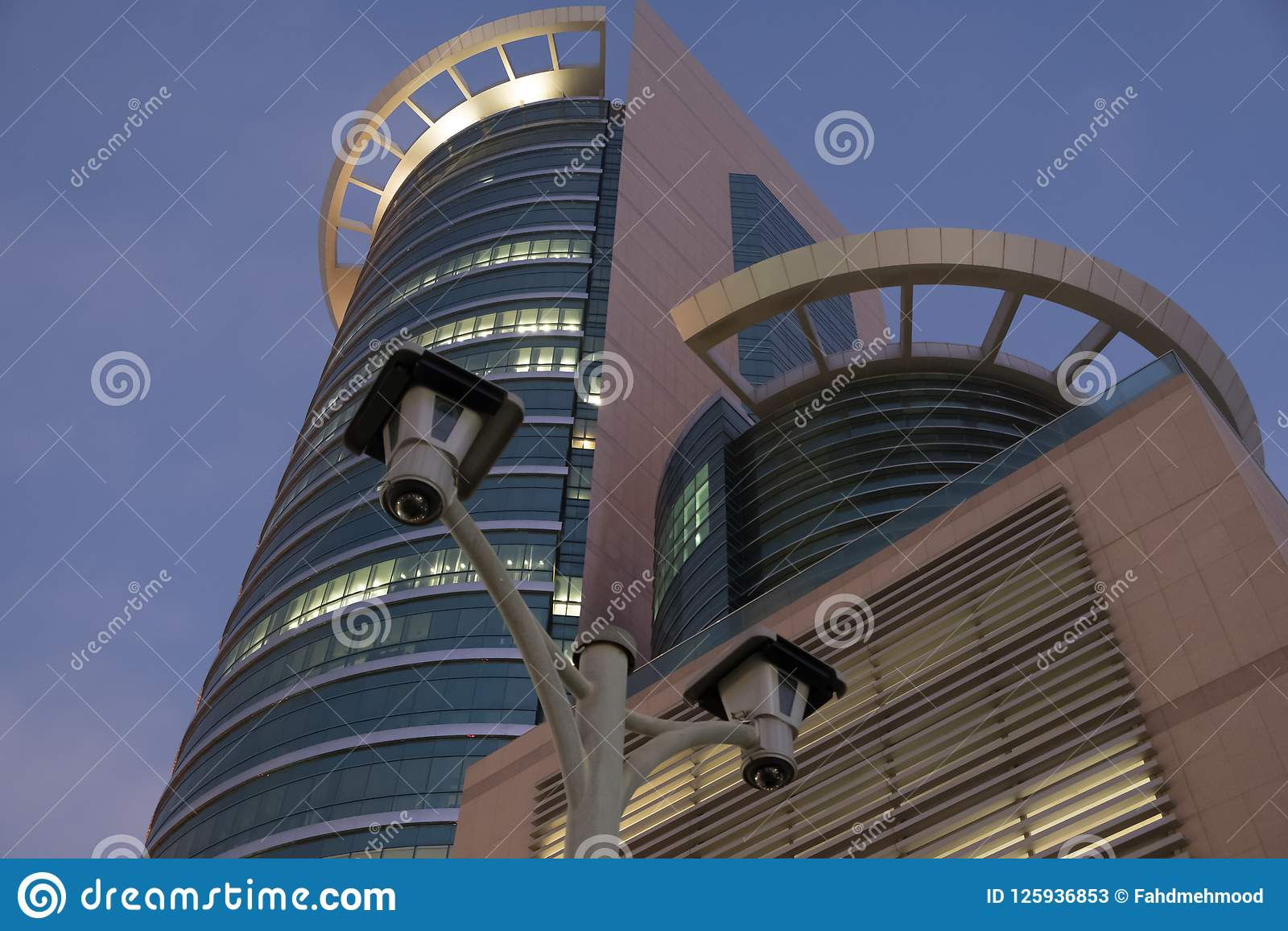 CCTV Cameras At Etisalat Headoffice Building Abu Dhabi Editorial