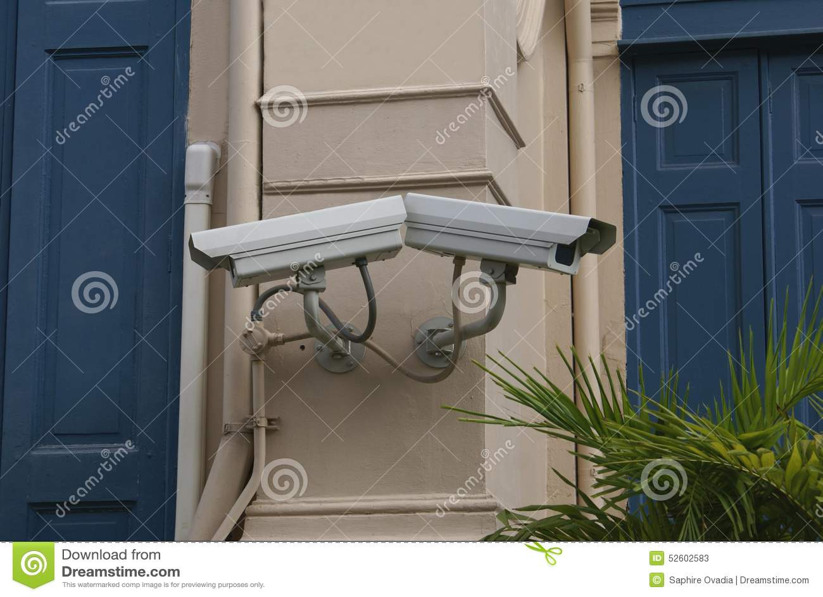 cctv cameras surveillance video cameras stock image. Black Bedroom Furniture Sets. Home Design Ideas