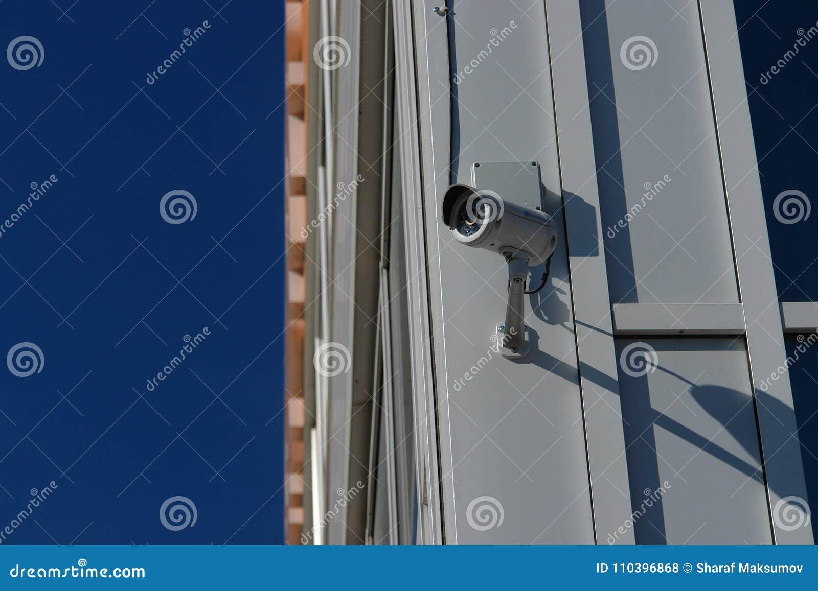 CCTV kamera bezpieczeństwa na ściennym outside