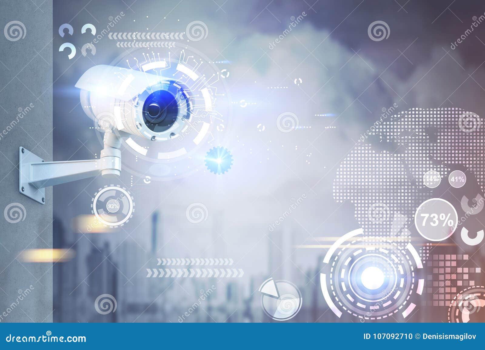 CCTV kamera, HUD w mieście