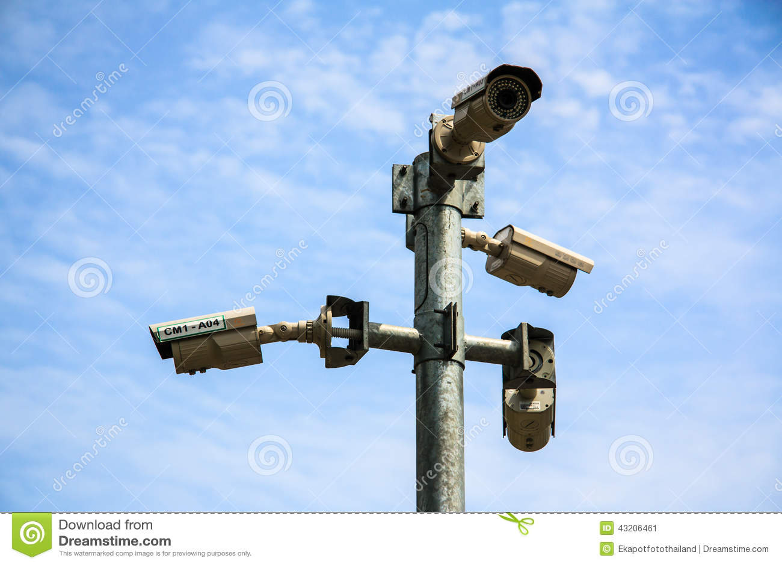 Download Cctv-kameror fotografering för bildbyråer. Bild av kontor - 43206461