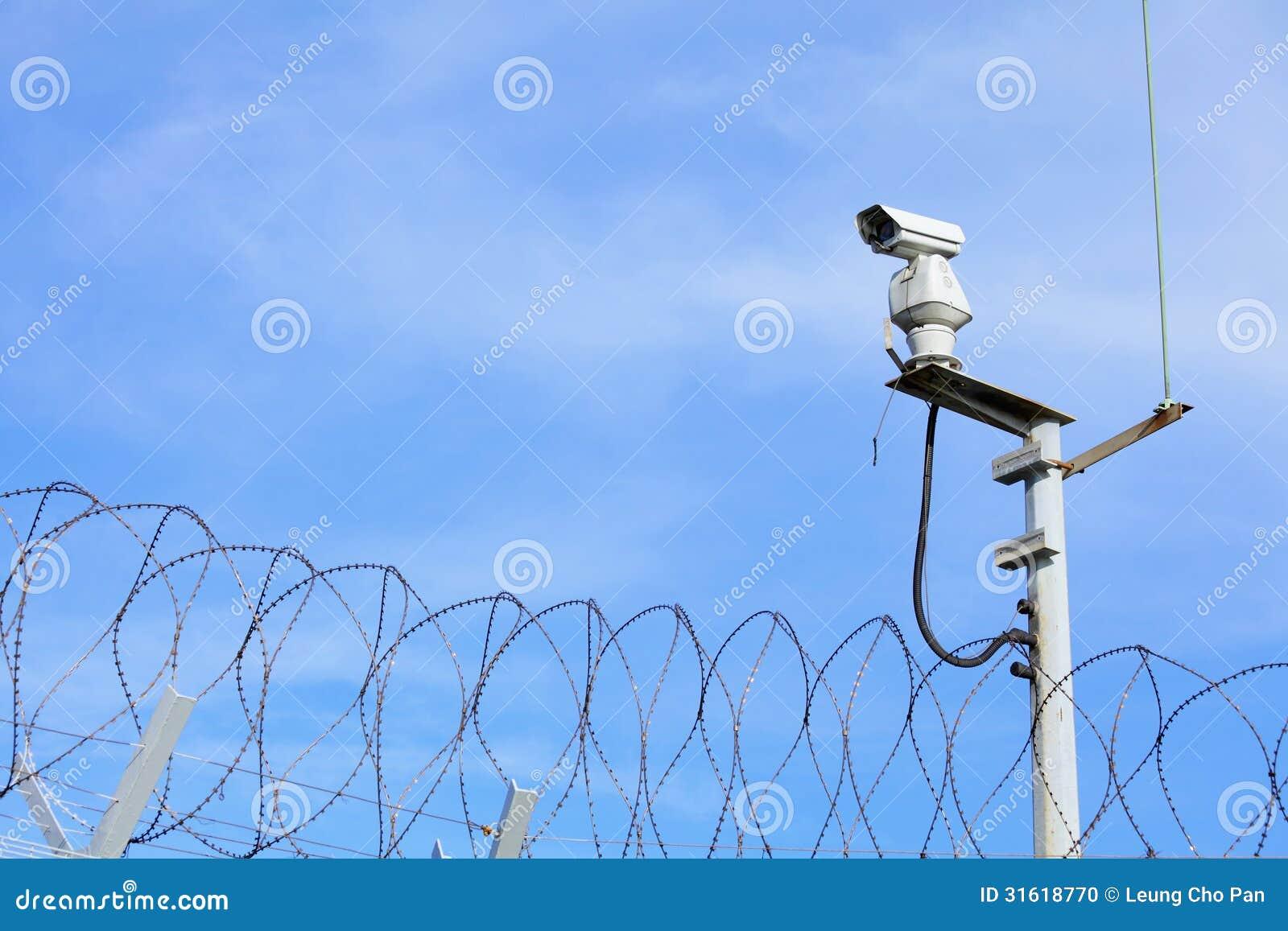 CCTV na górze łańcuszkowego połączenia