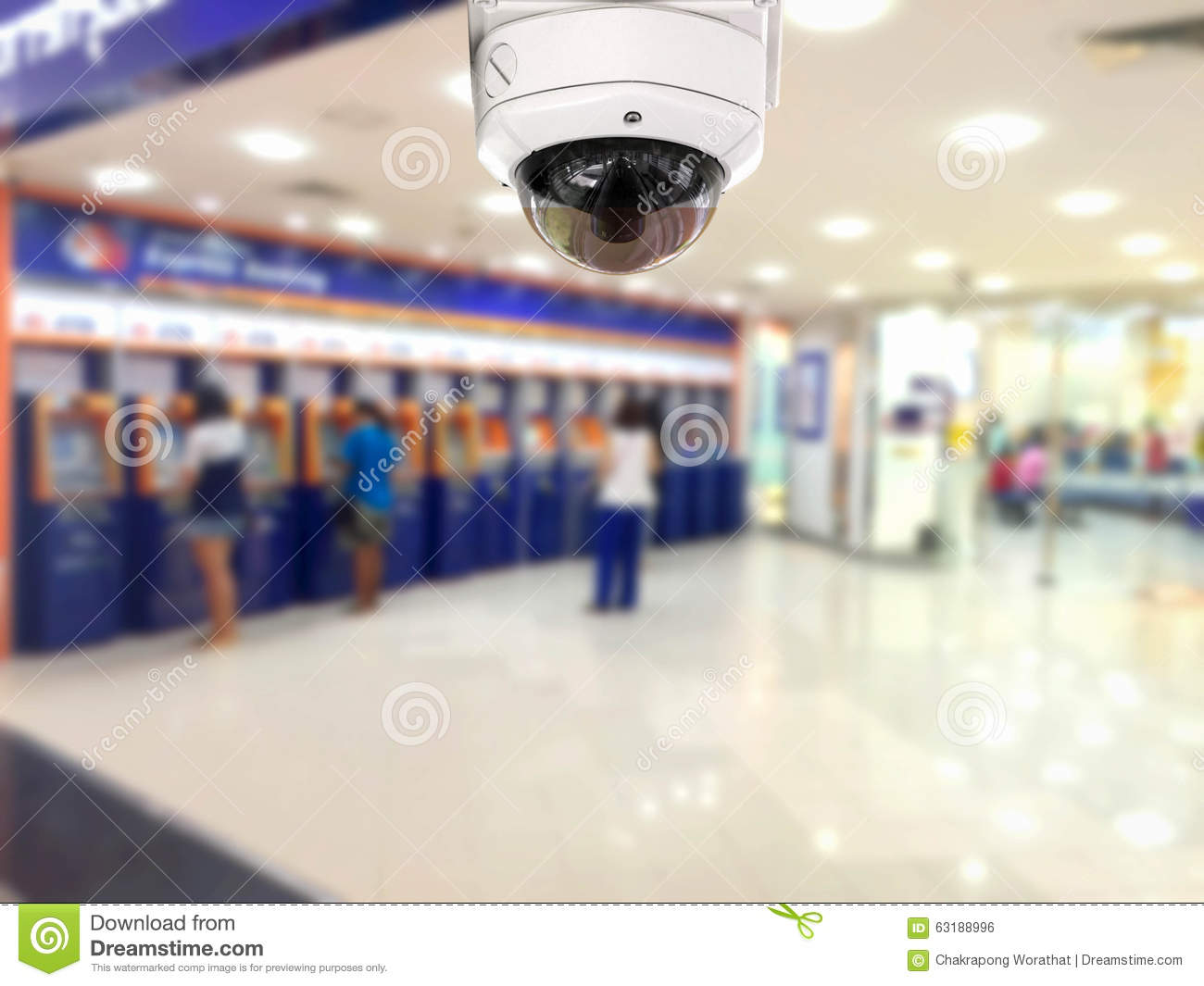 Cctv Security Camera Auto Teller Machine Atm Area