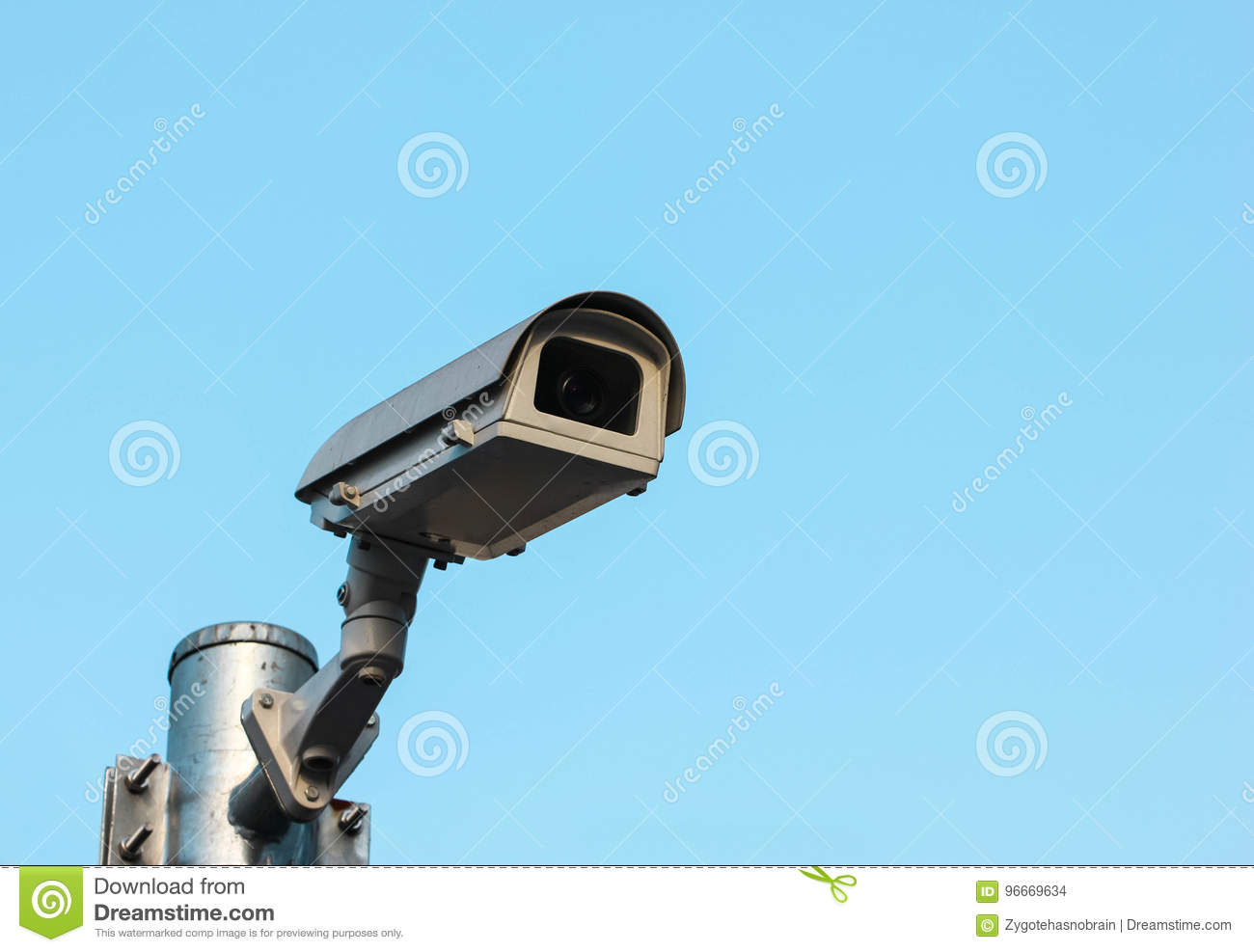 CCTV, Security Camera In The City.