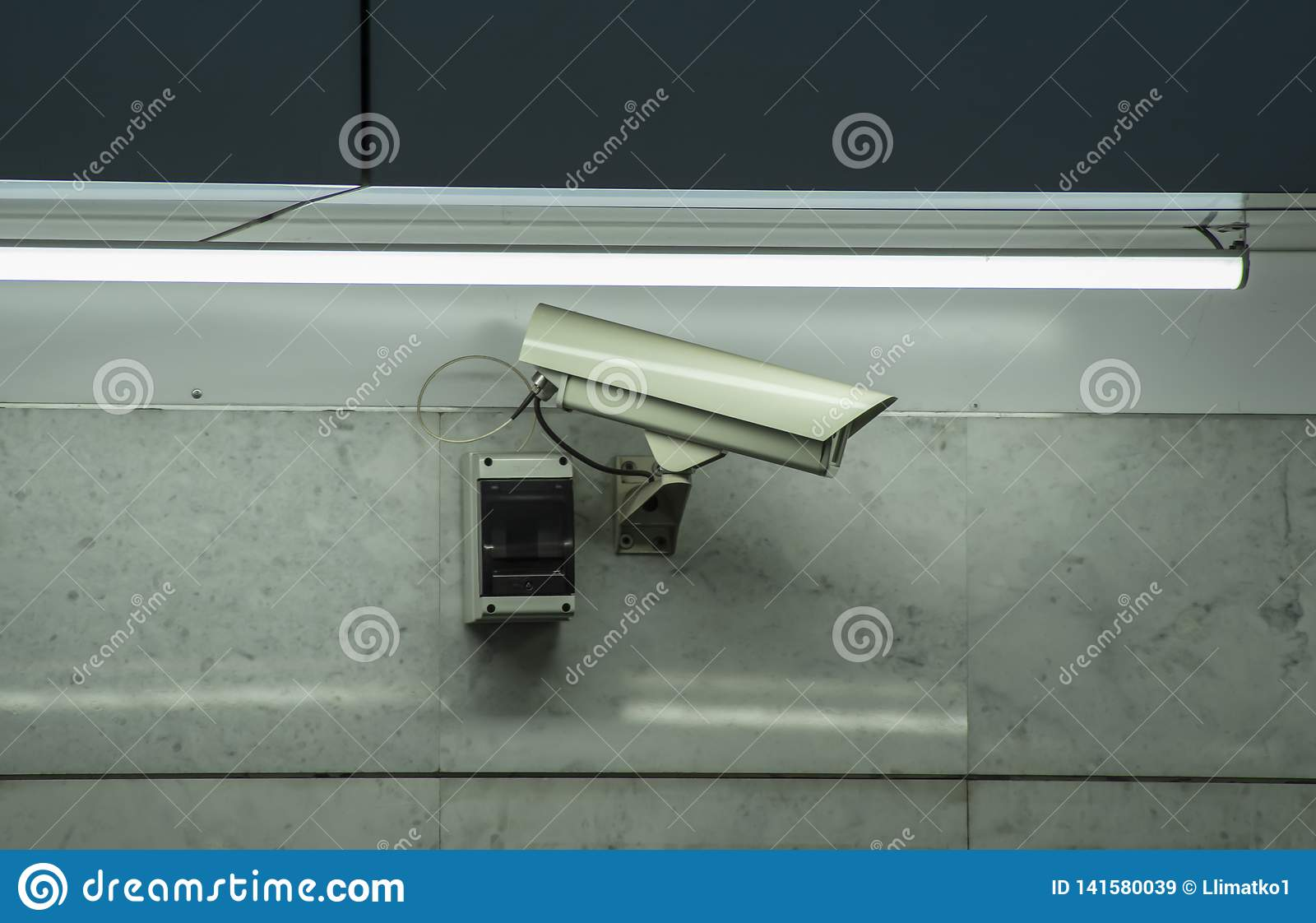 CCTV security camera installed in airport and subway