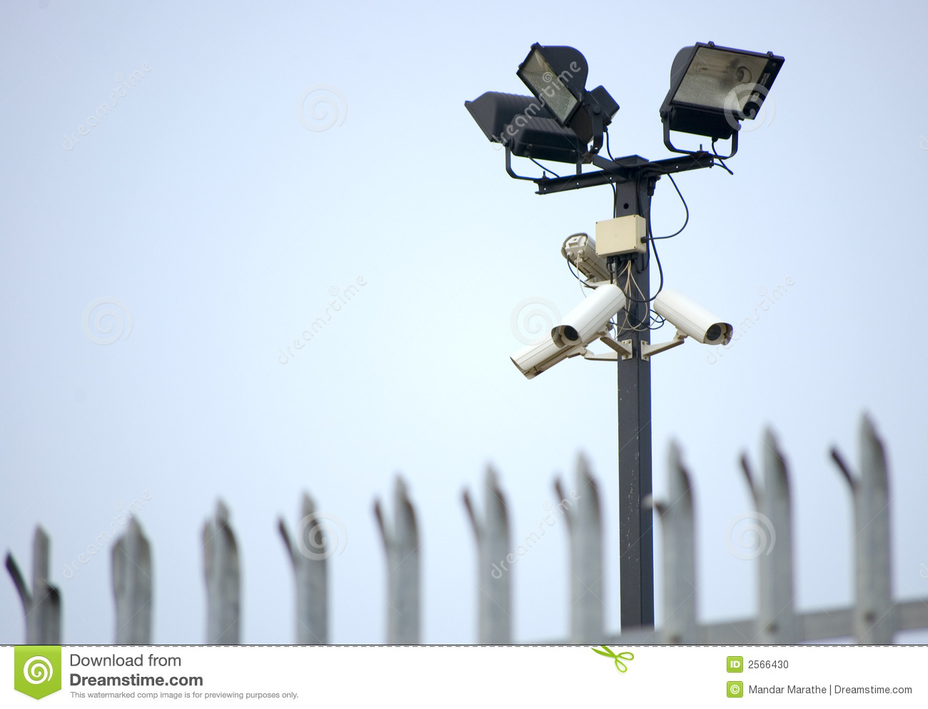 Cctv security cameras fence stock photo image of vigil