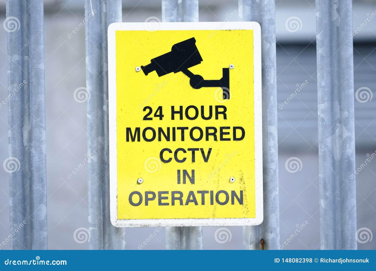 CCTV 24 Stunde ?berwachtes Operationszeichen