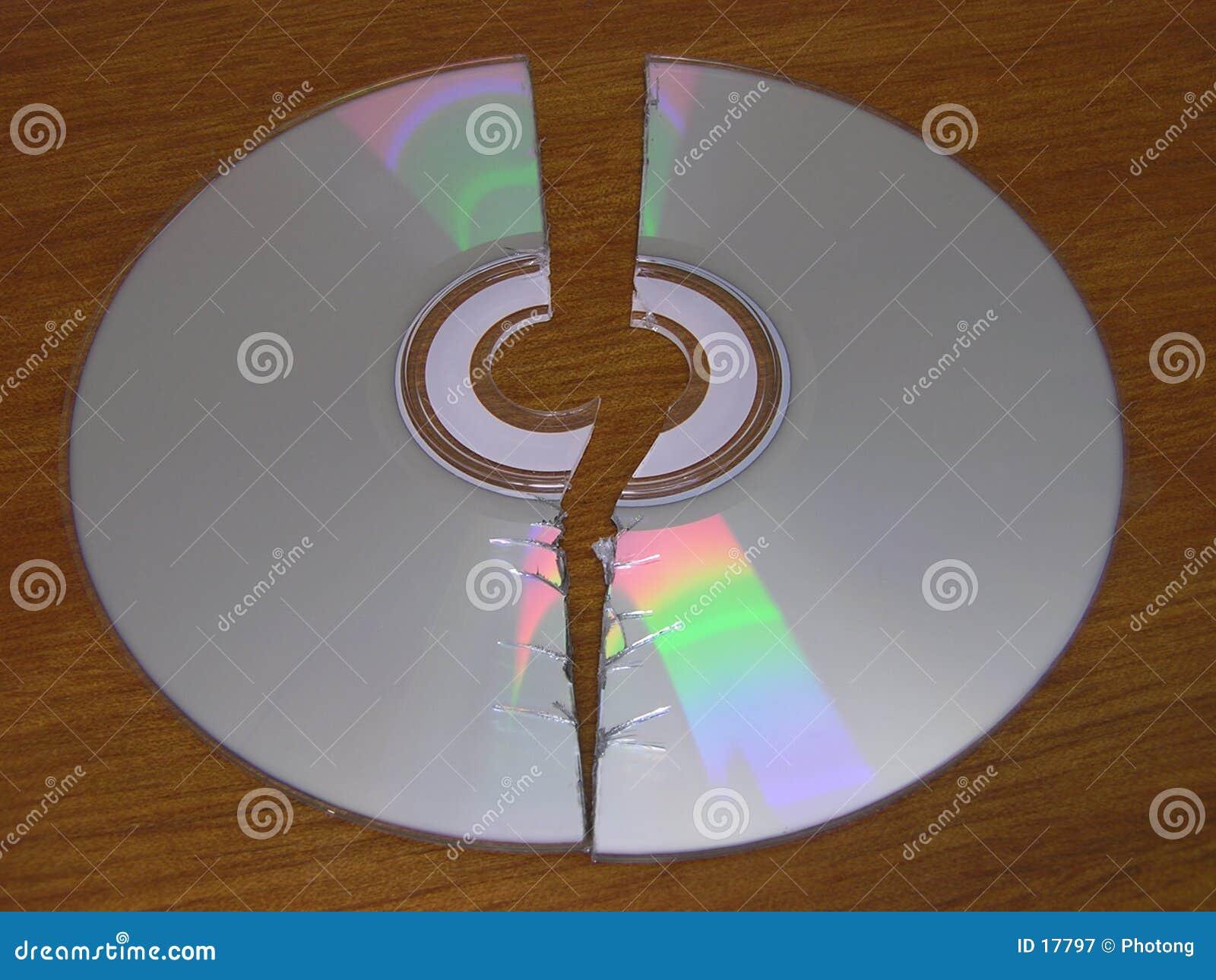 CD cassé