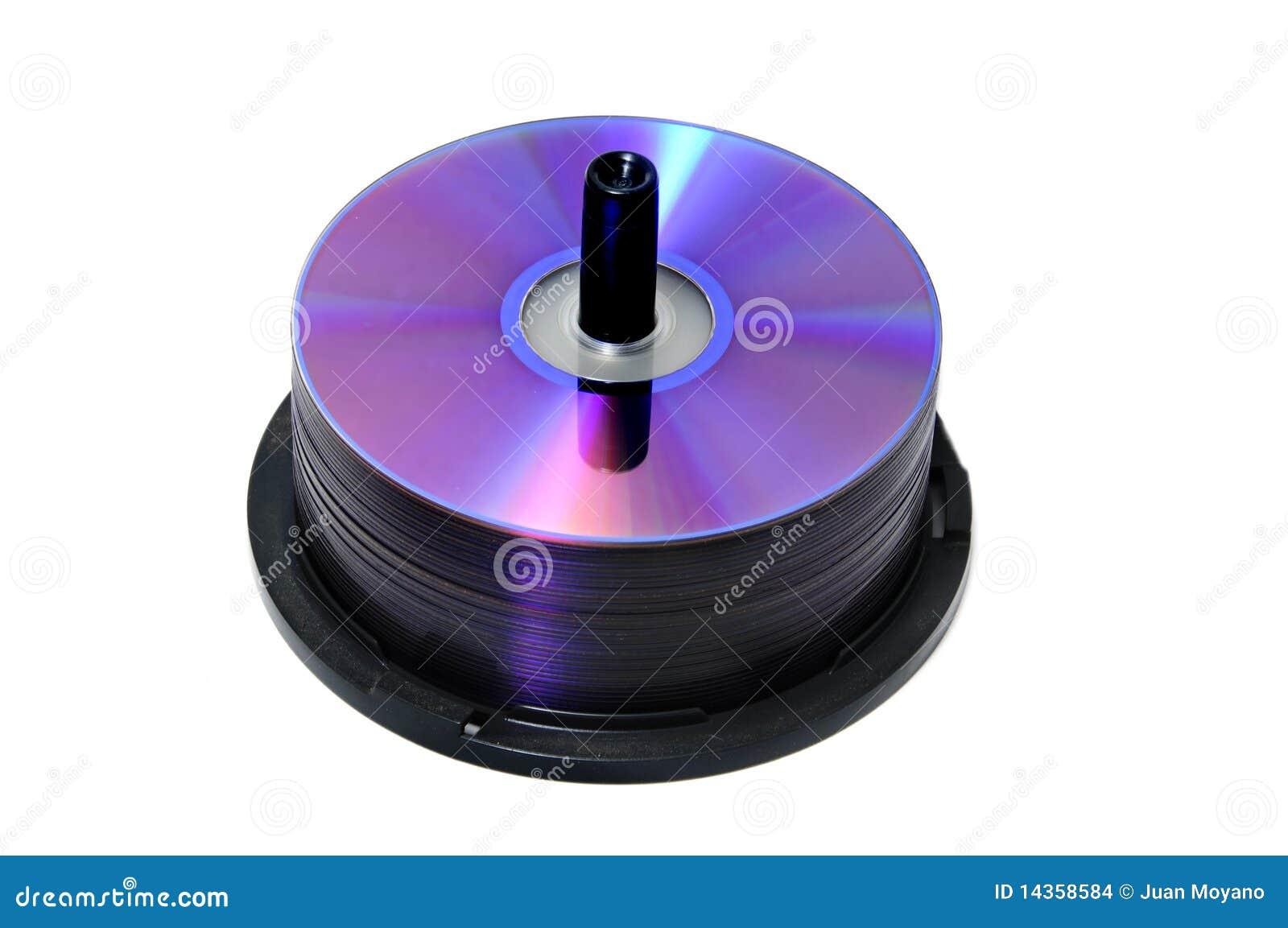 CD, CD-ROM, DVD spool.