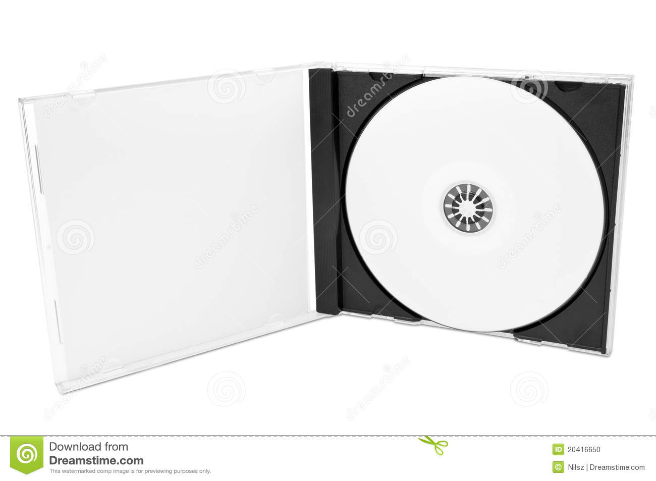 Cd Cover With Blank Disc Stock Photo - Image: 20416650