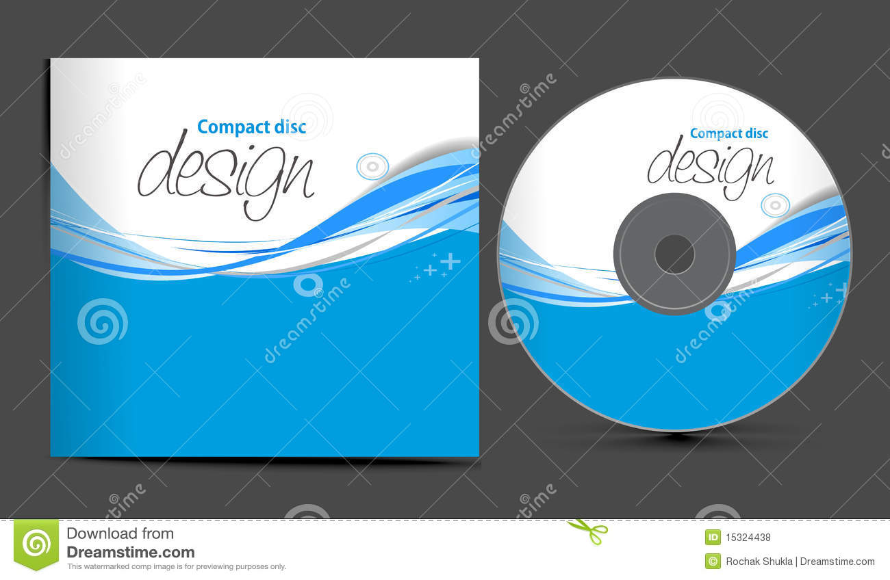 Cd cover design stock vector. Image of design, isolated ...