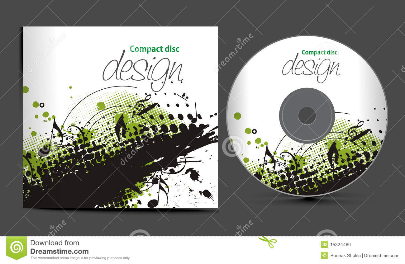template for cd cover