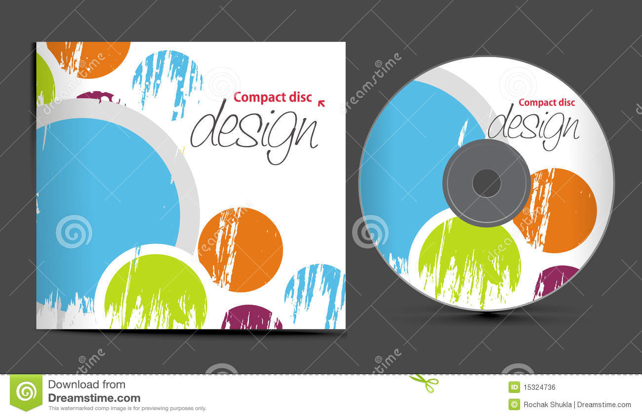 Vector cd cover design template with copy space, illustration.