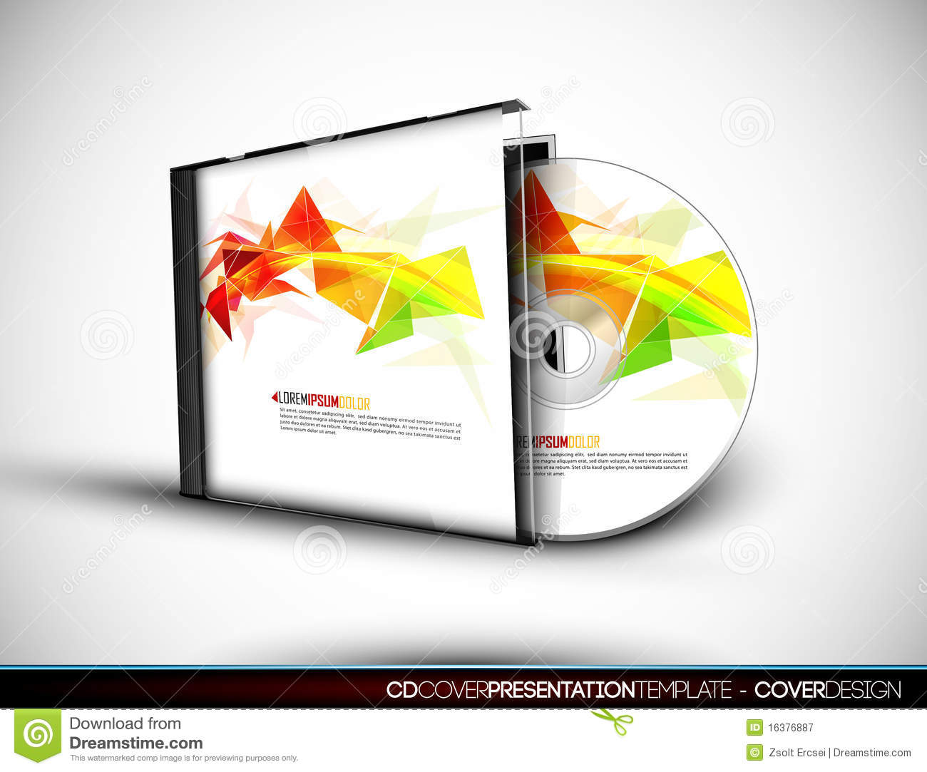cd cover design with 3d presentation template stock vector, Presentation templates
