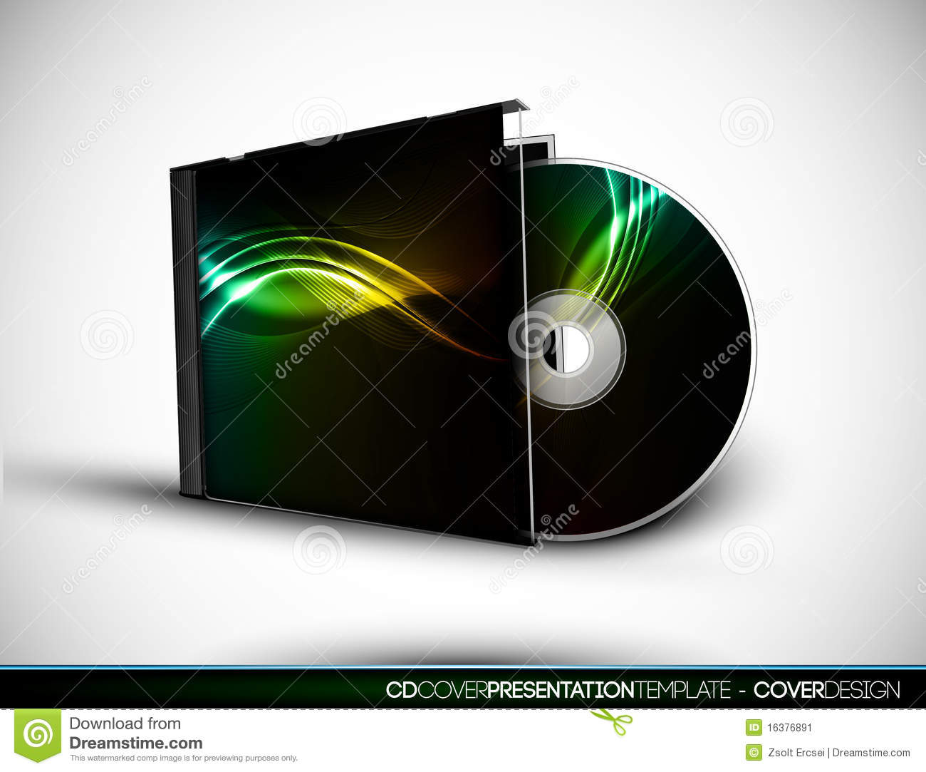 cd cover design with 3d presentation template stock vector - image, Presentation templates