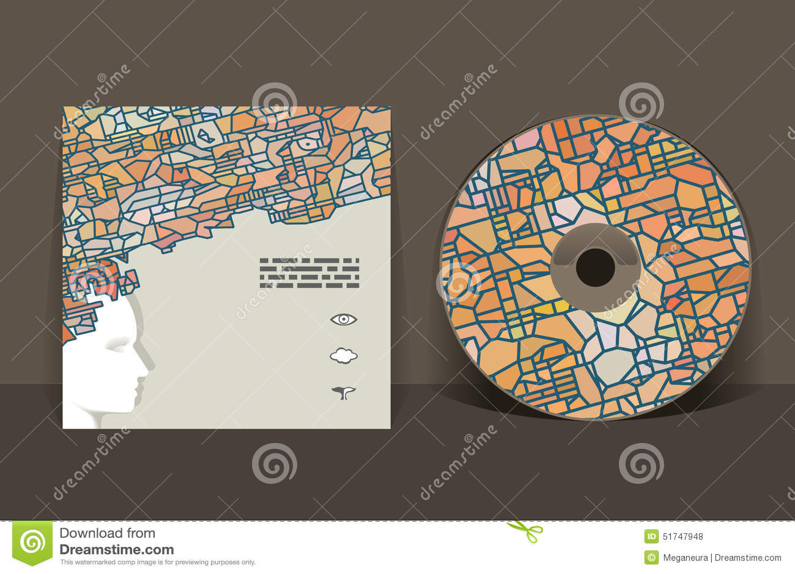 CD cover design template stock vector. Illustration of design - 51747948