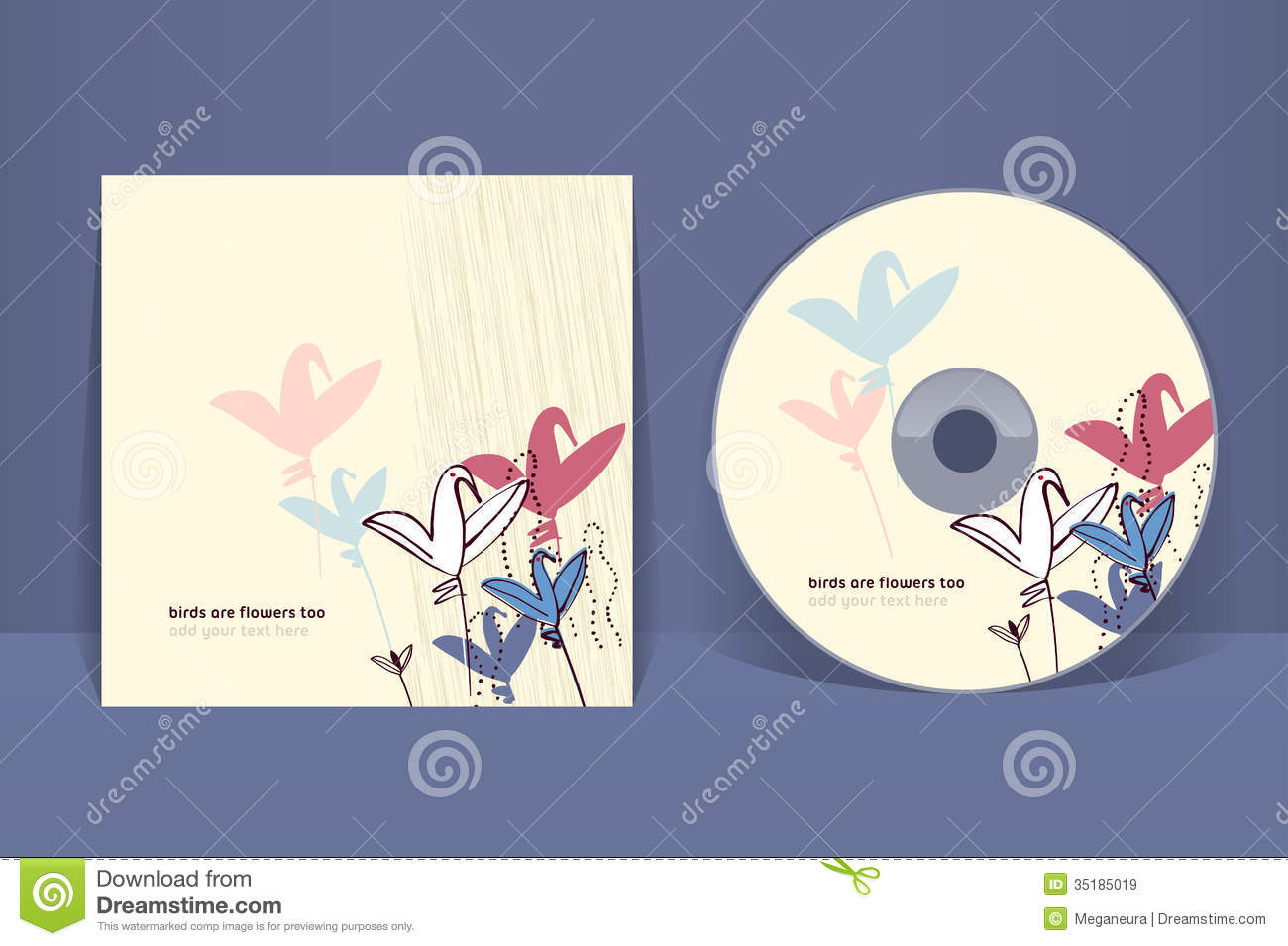 cd cover design template stock vector illustration of envelope