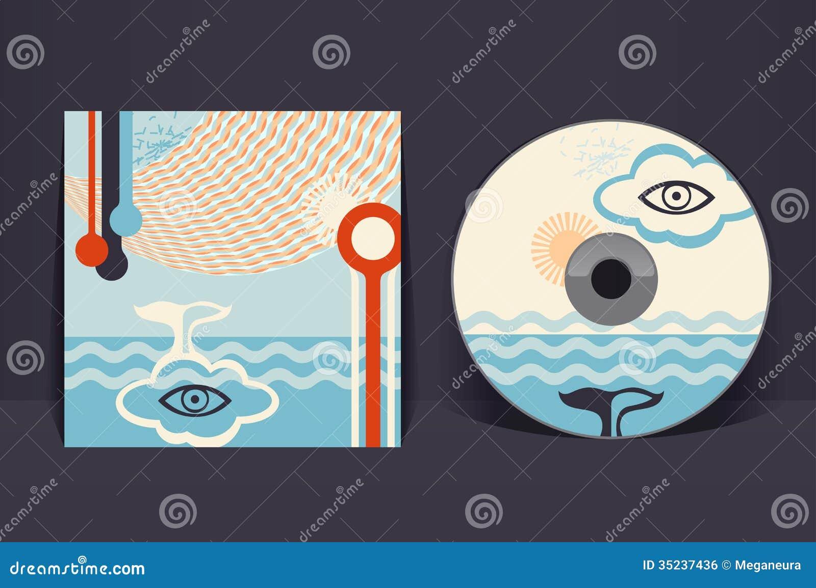 Cd Cover Design Template. CD Cover Design Template EPS 10 Vector ...
