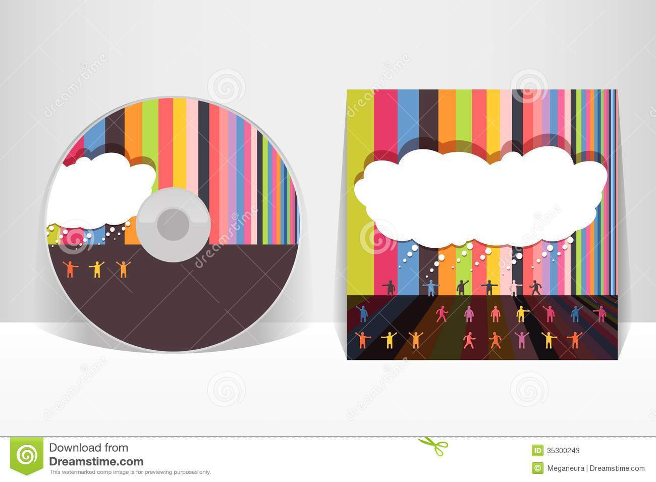 CD Cover Design Template Stock Photos Image 35300243