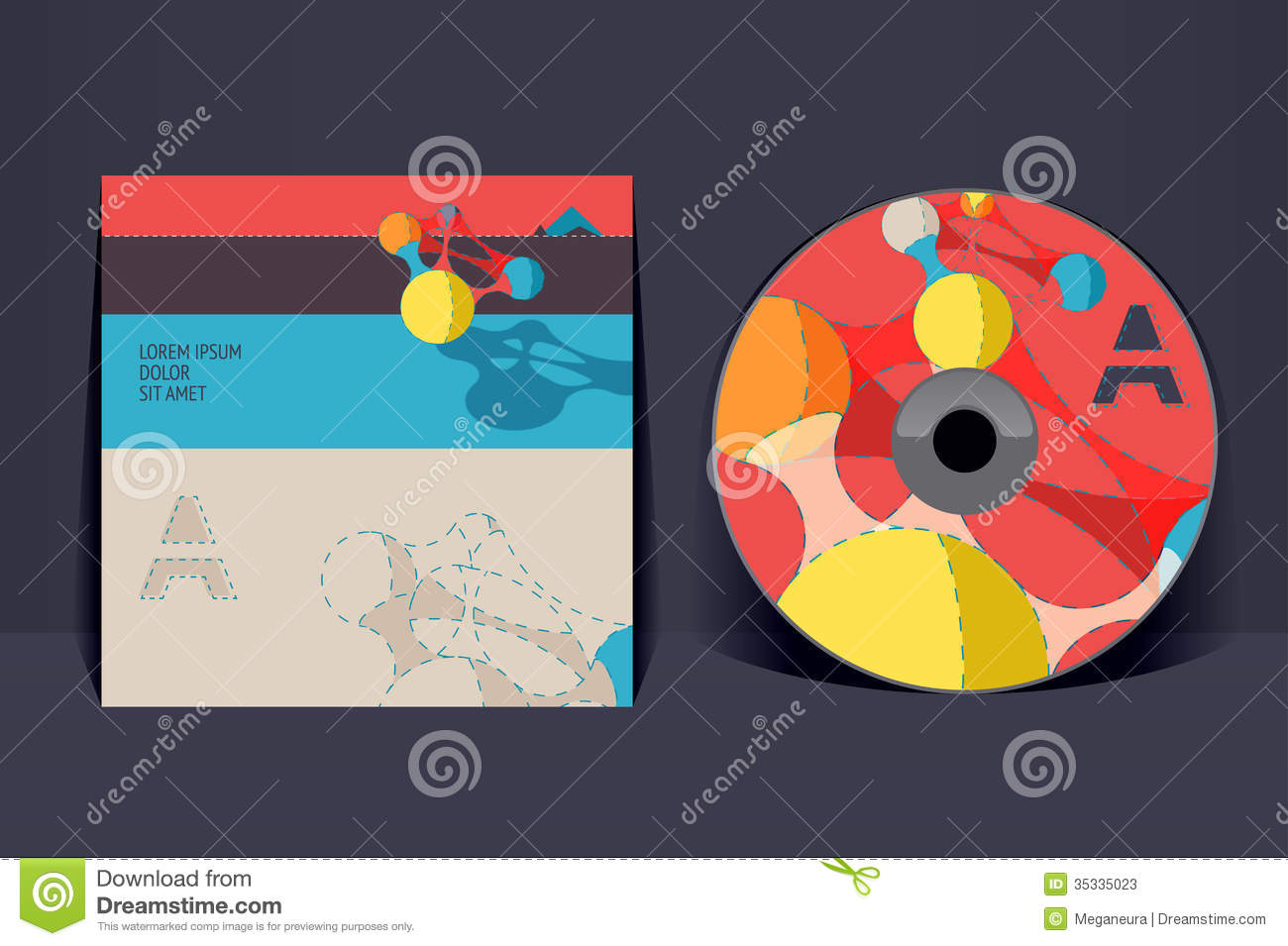 CD Cover Design Template Stock Photos - Image: 35335023