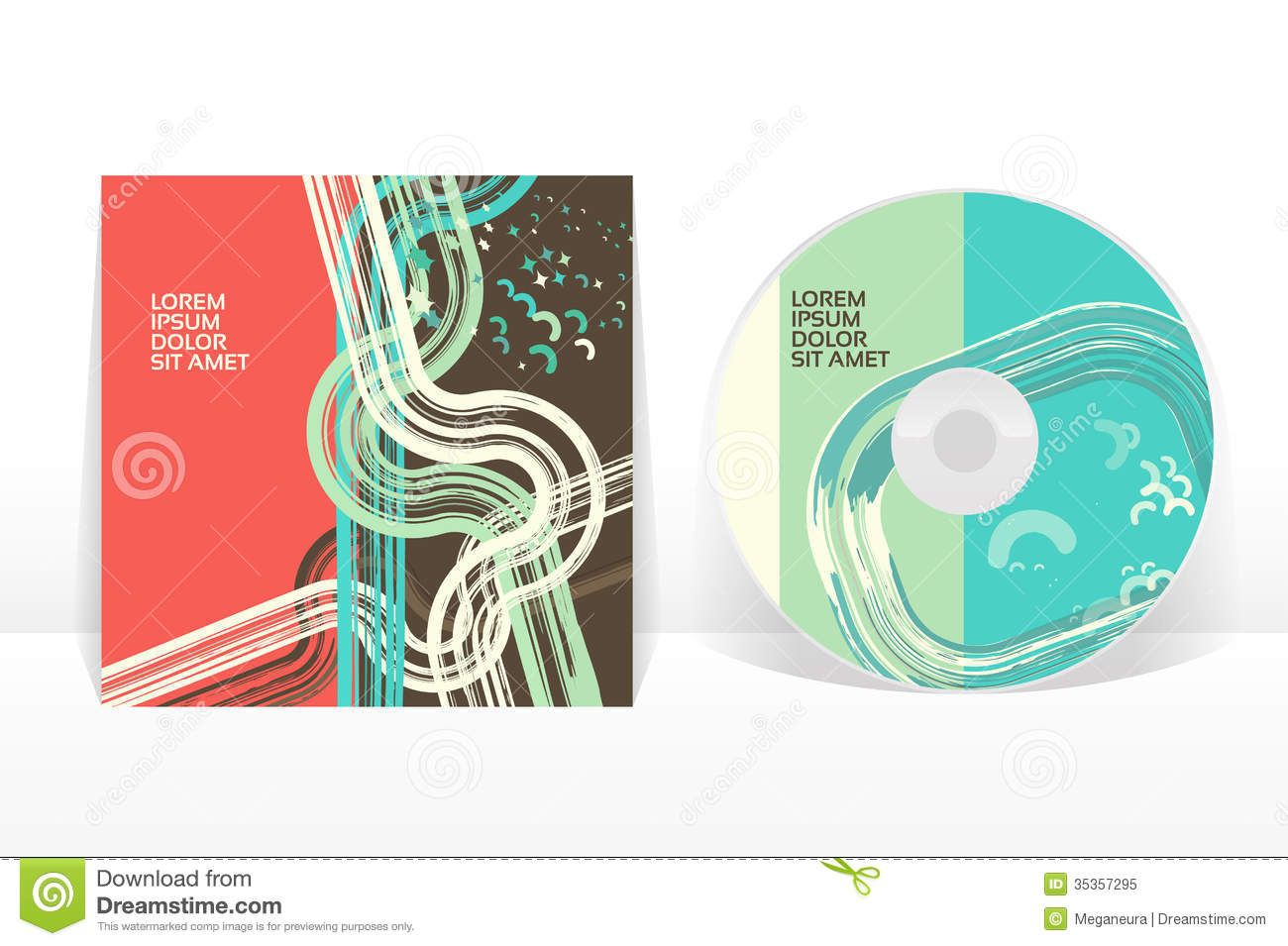 cd cover design template stock vector image of element 35357295. Black Bedroom Furniture Sets. Home Design Ideas