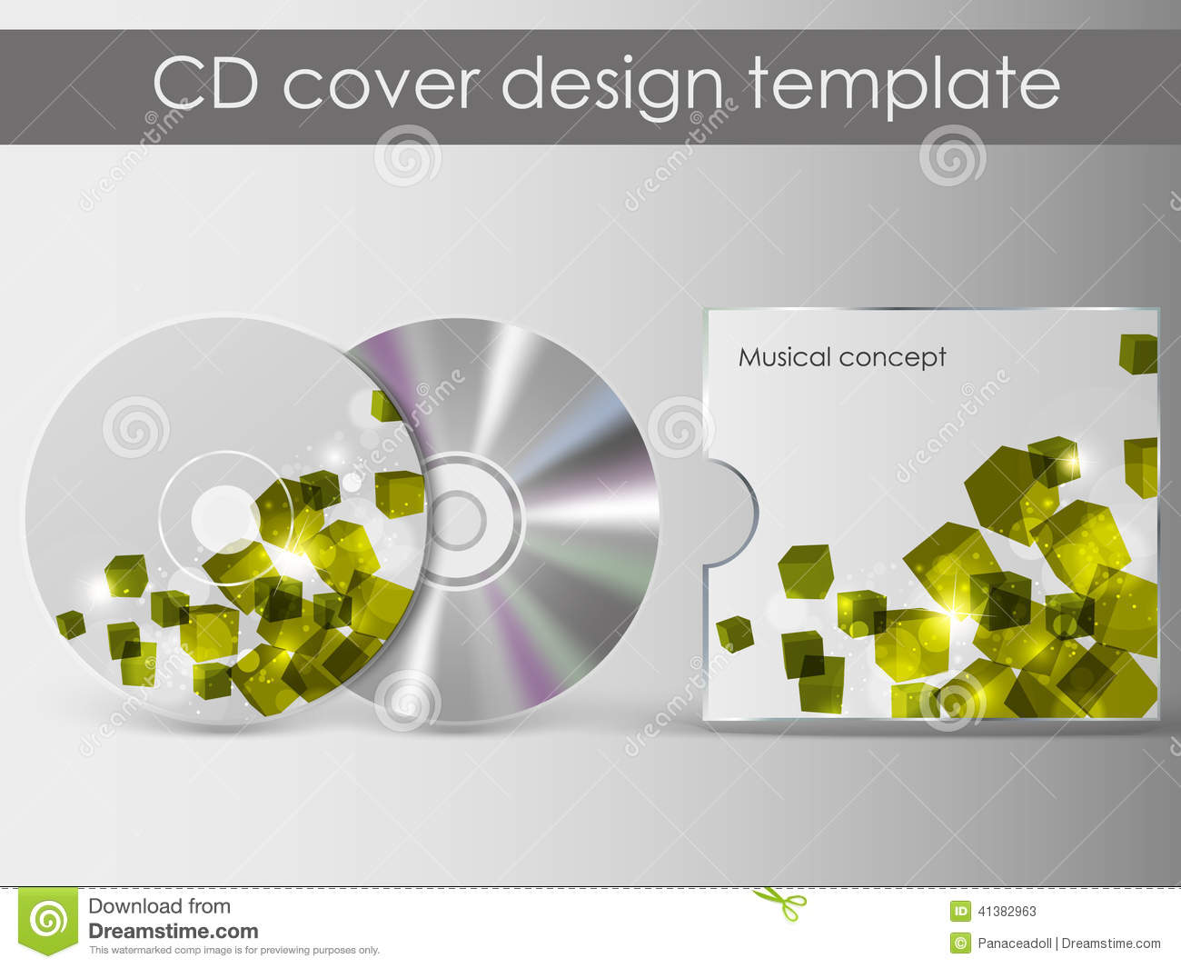 cd cover presentation design template stock vector image 41382963. Black Bedroom Furniture Sets. Home Design Ideas