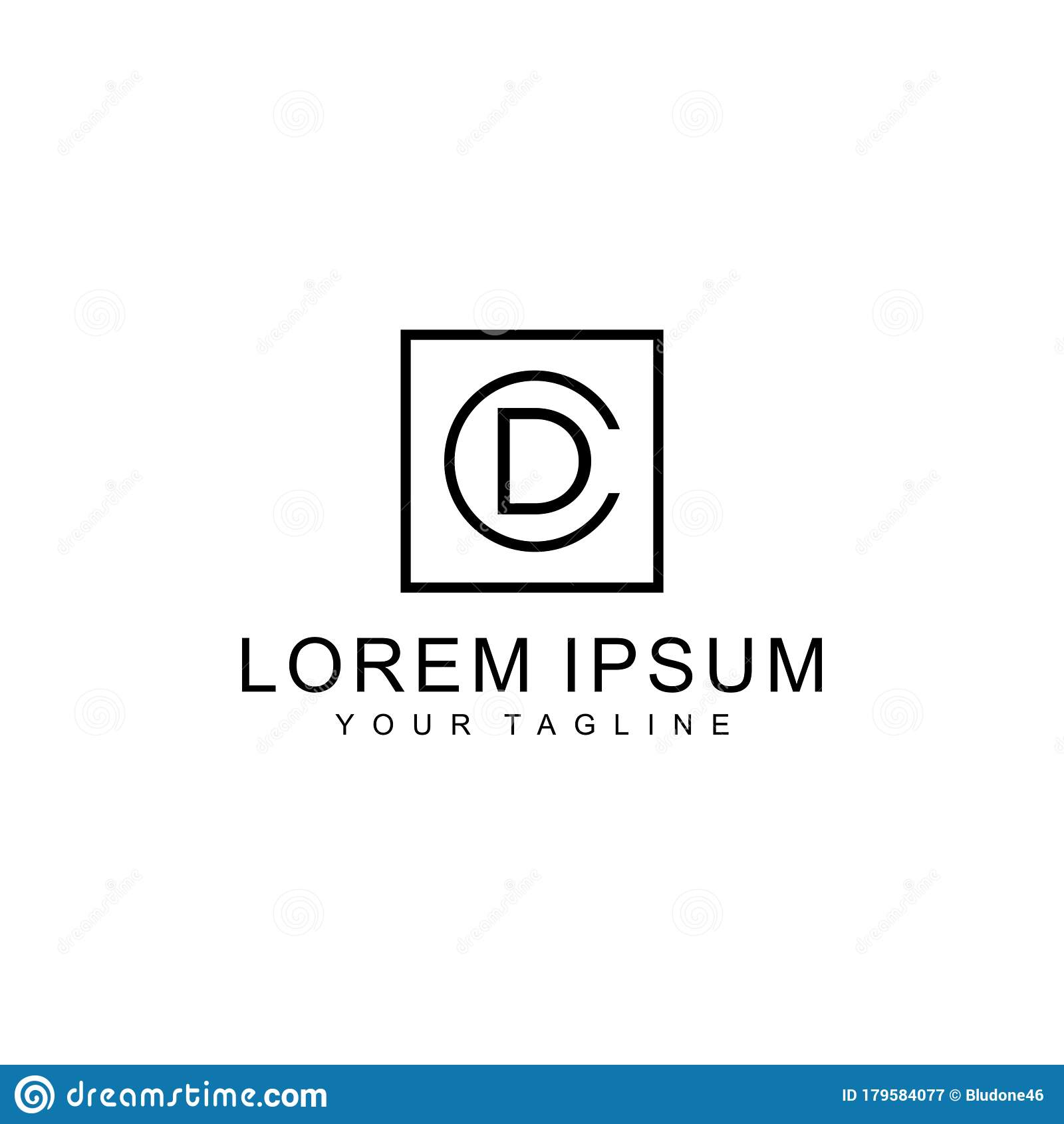 CD Or DC Initial Logo Design Monogram Stock Vector