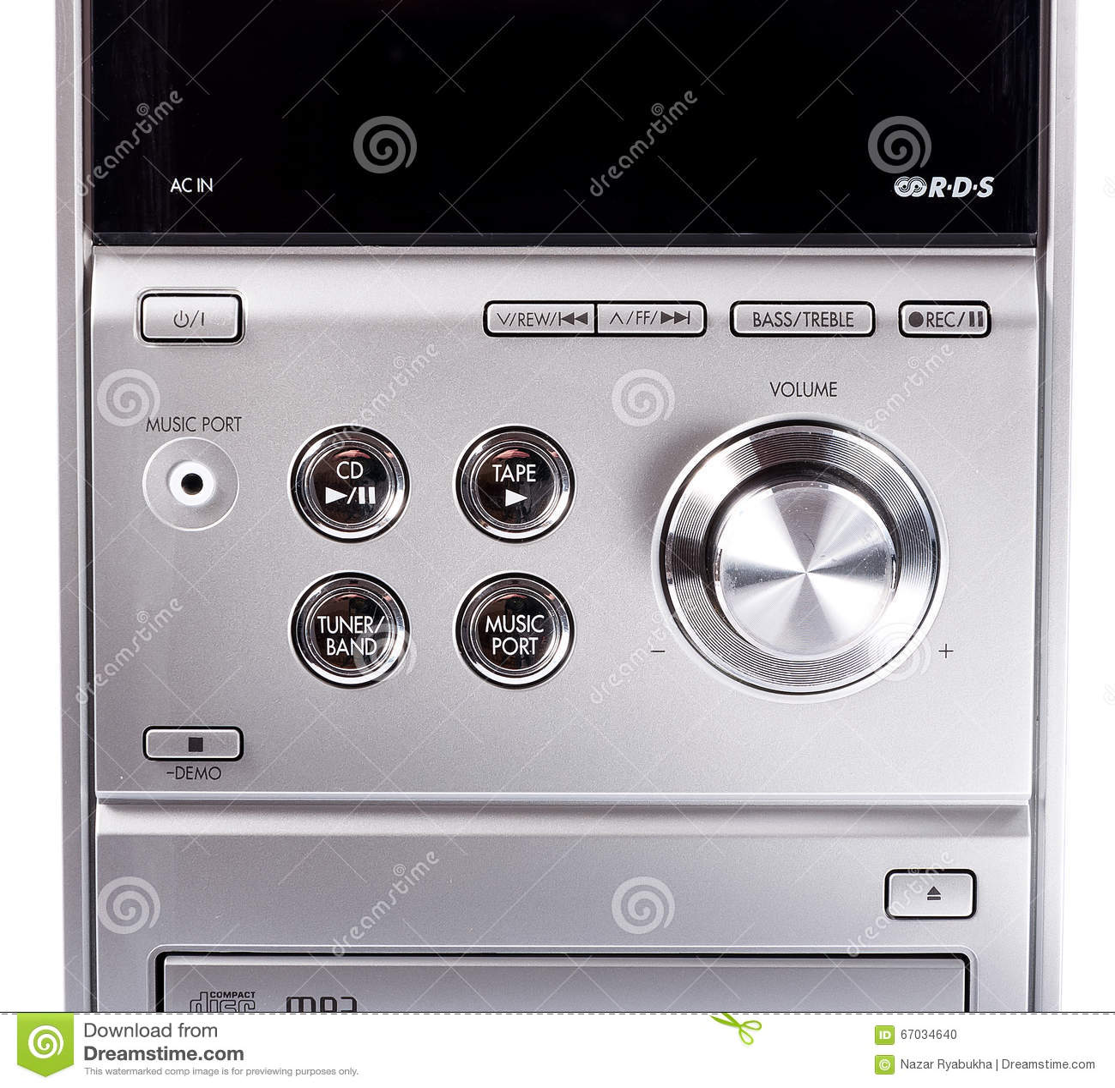 Cd de système stéréo et lecteur de cassettes compacts