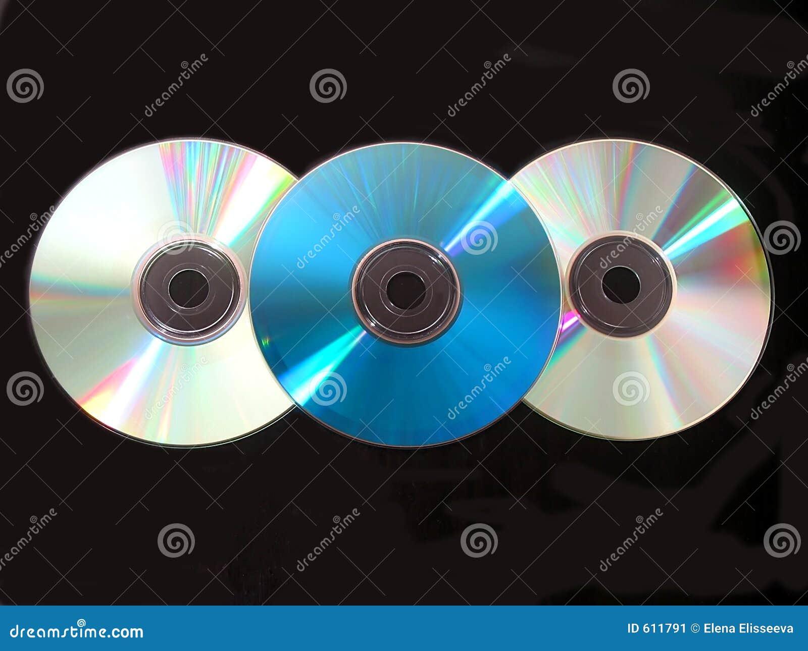 CD drie op zwarte