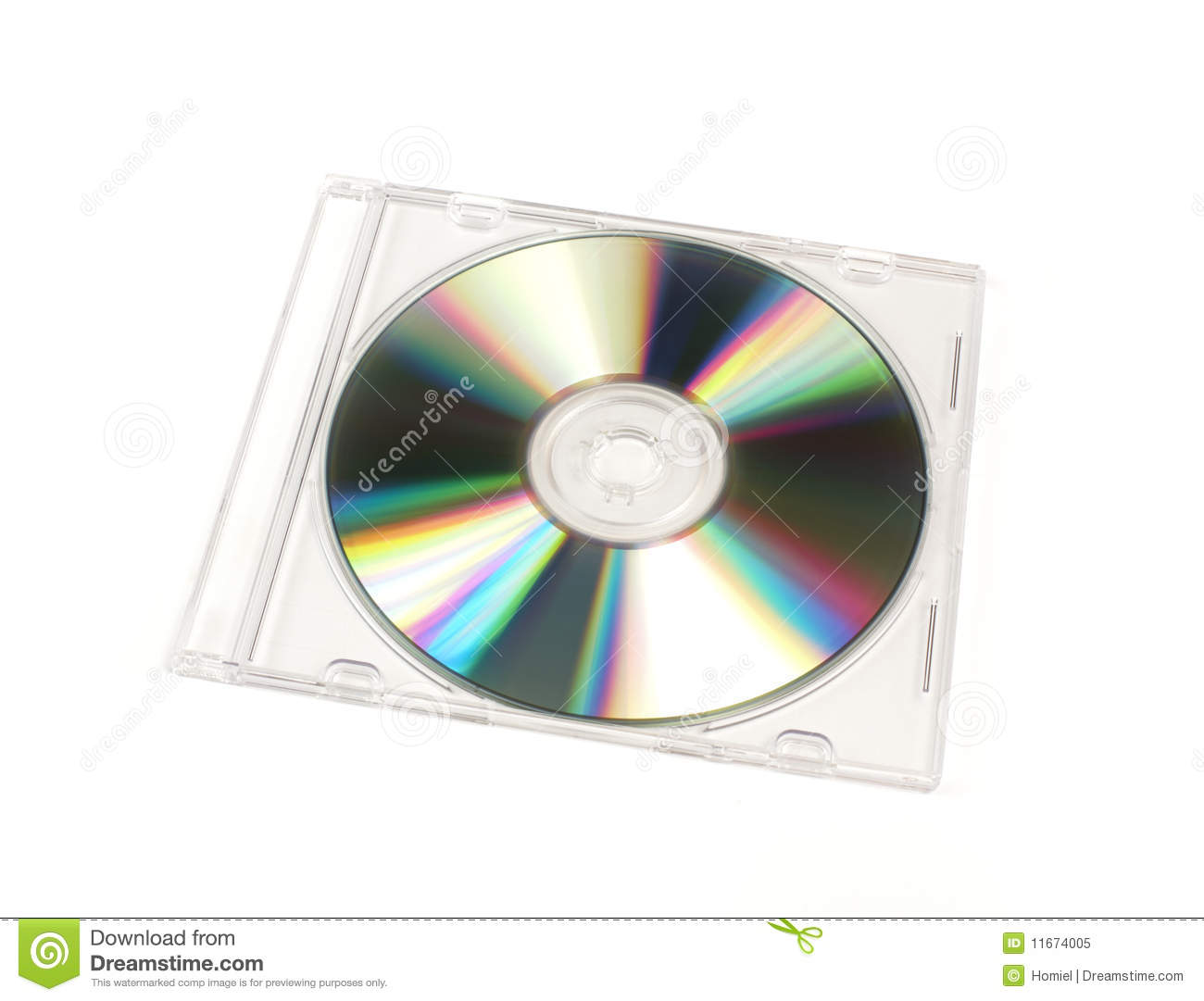 cd  dvd closed jewel case template stock image