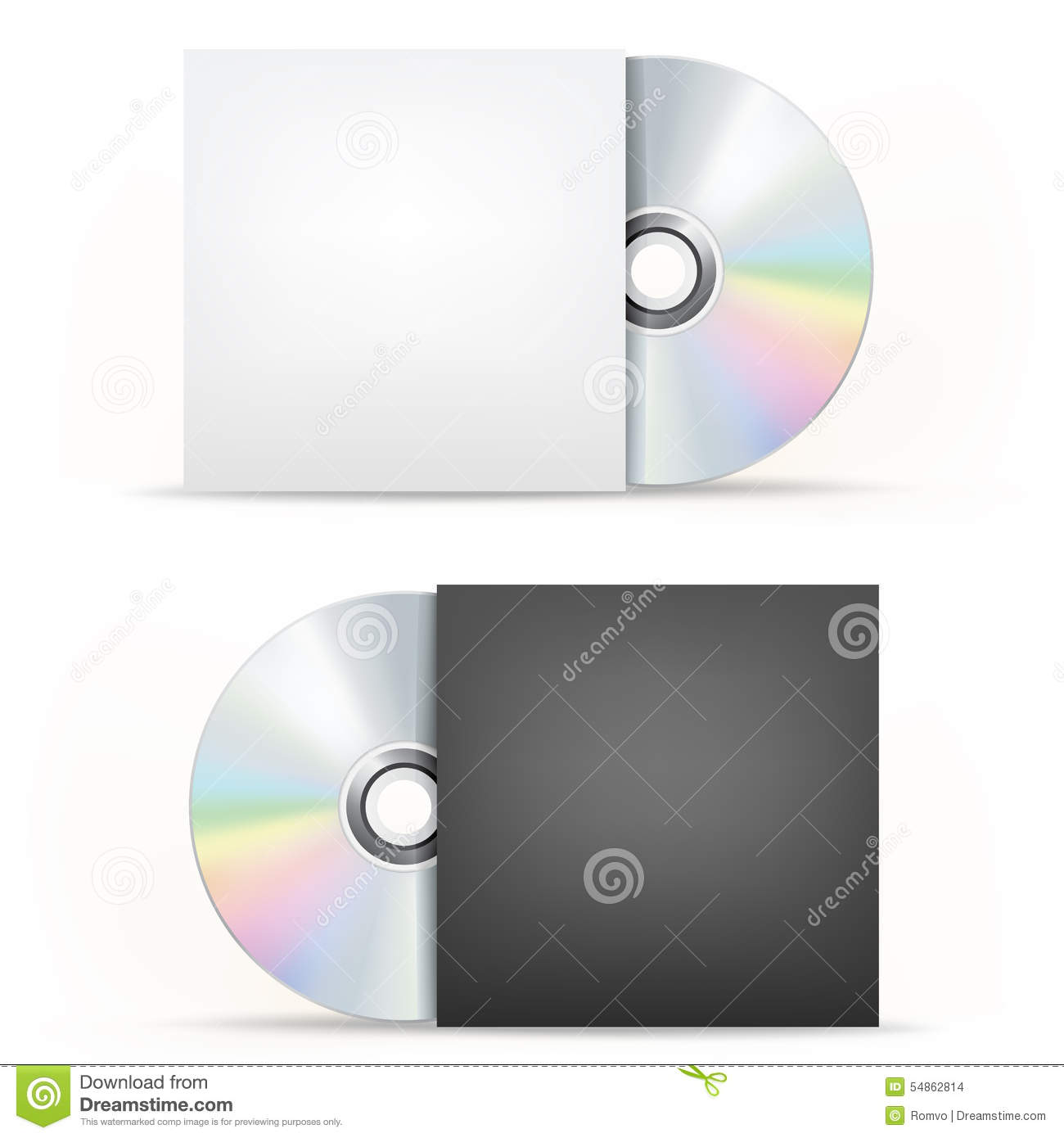 CD-DVD disc and cover