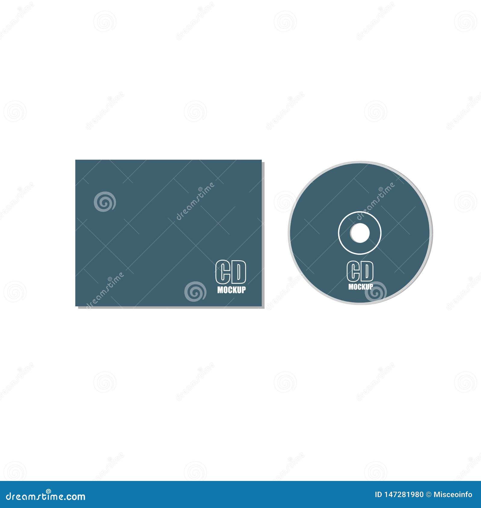 CD, DVD, disco con la maqueta del vector que embala