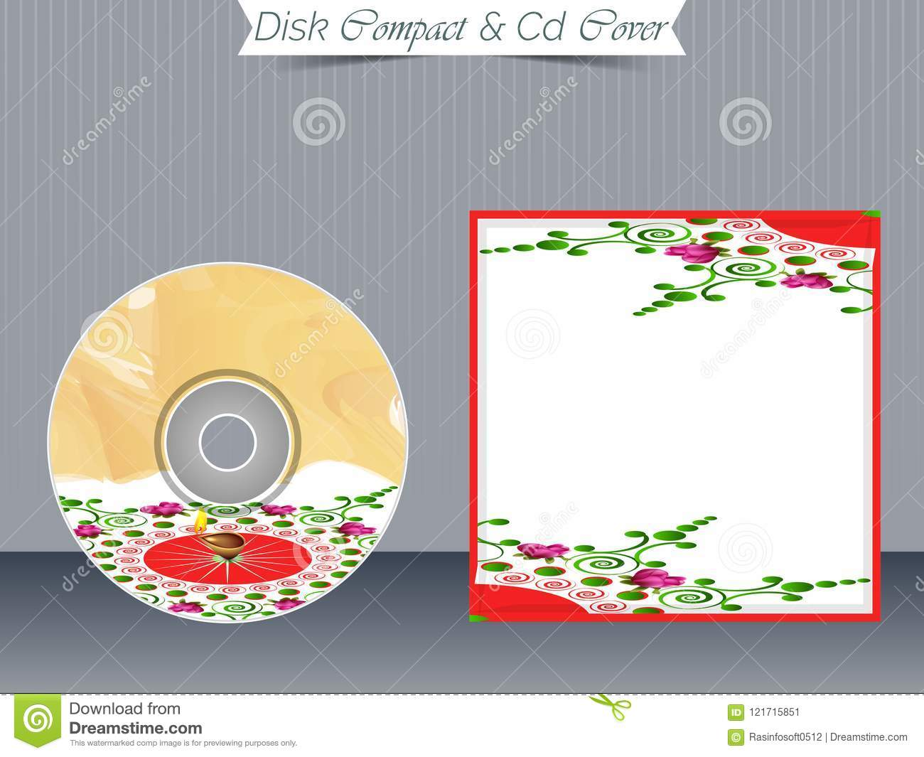 cd or dvd jewel case templates stock vector illustration of color