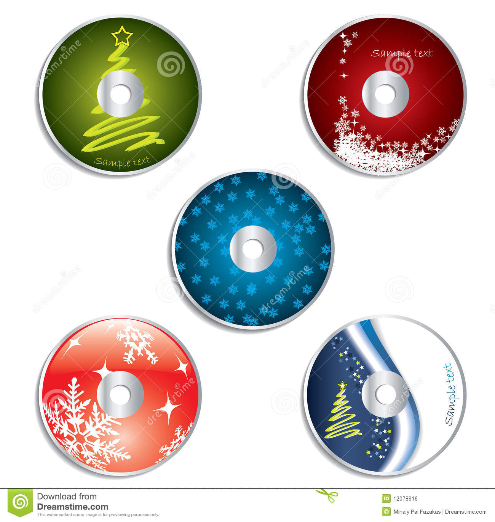 cd dvd label christmas designs 2 stock vector illustration of