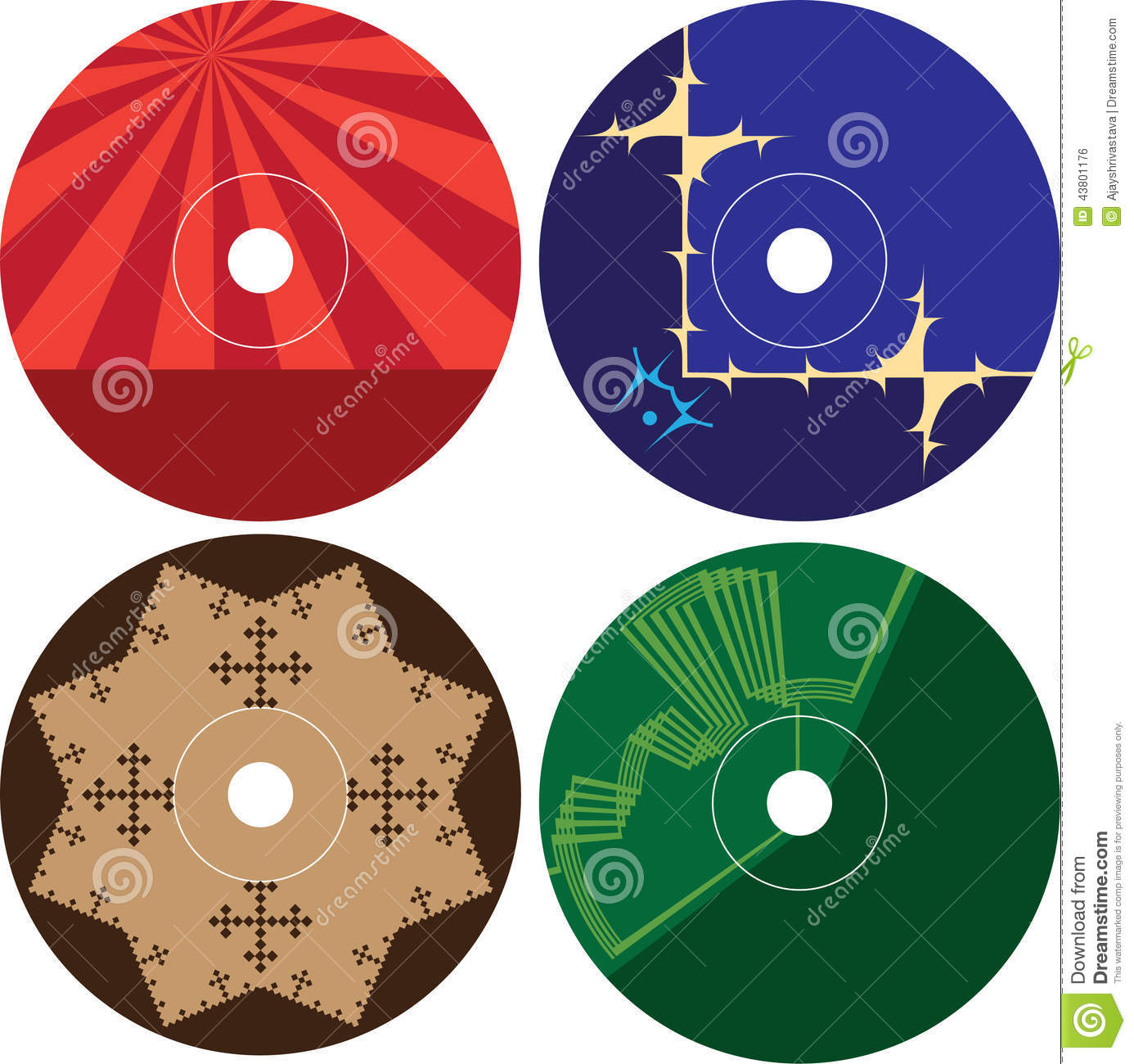 Stock vector cd dvd label design template