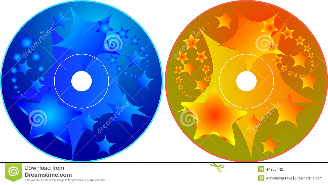 Cd Dvd Label Design Template Stock Vector Image 44950442